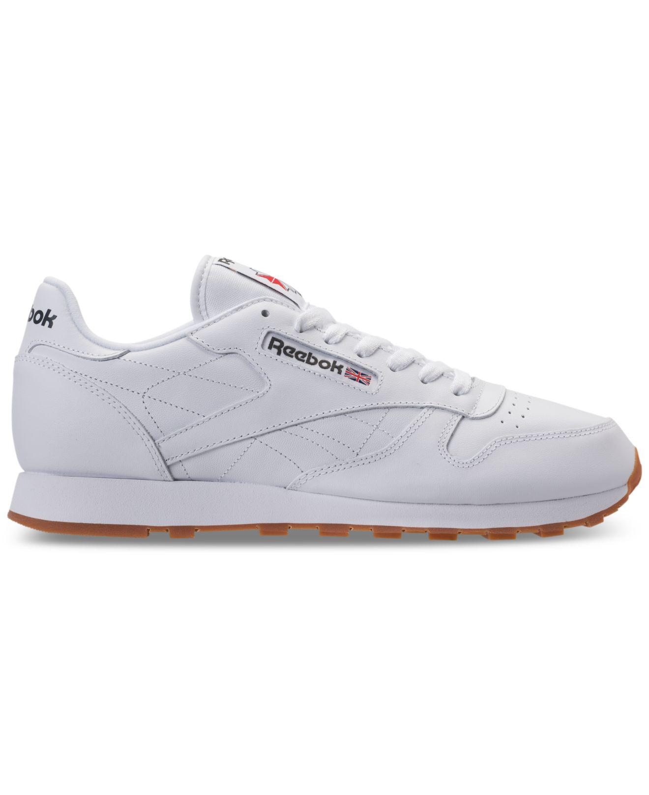 ef8f45d47f57 Lyst - Reebok Men s Classic Leather Casual Sneakers From Finish Line in  White for Men