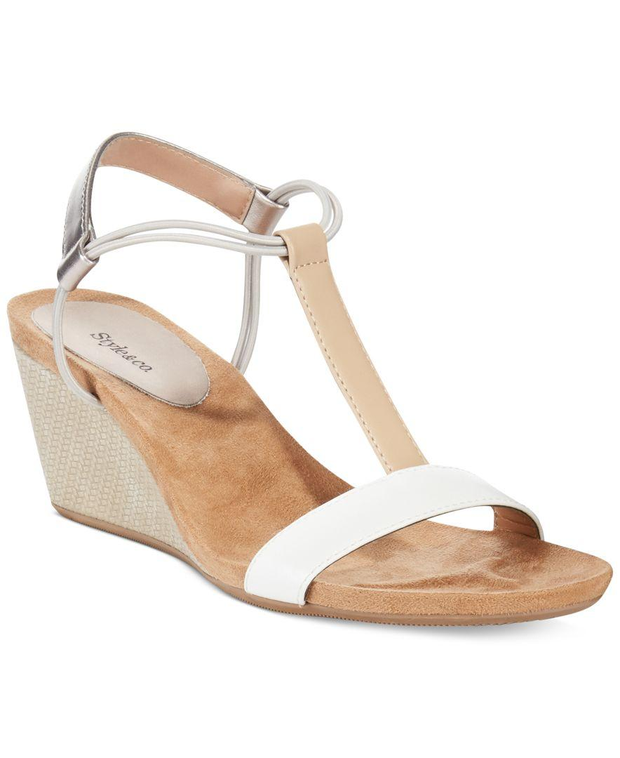 style co mulan wedge sandals only at macy s in white