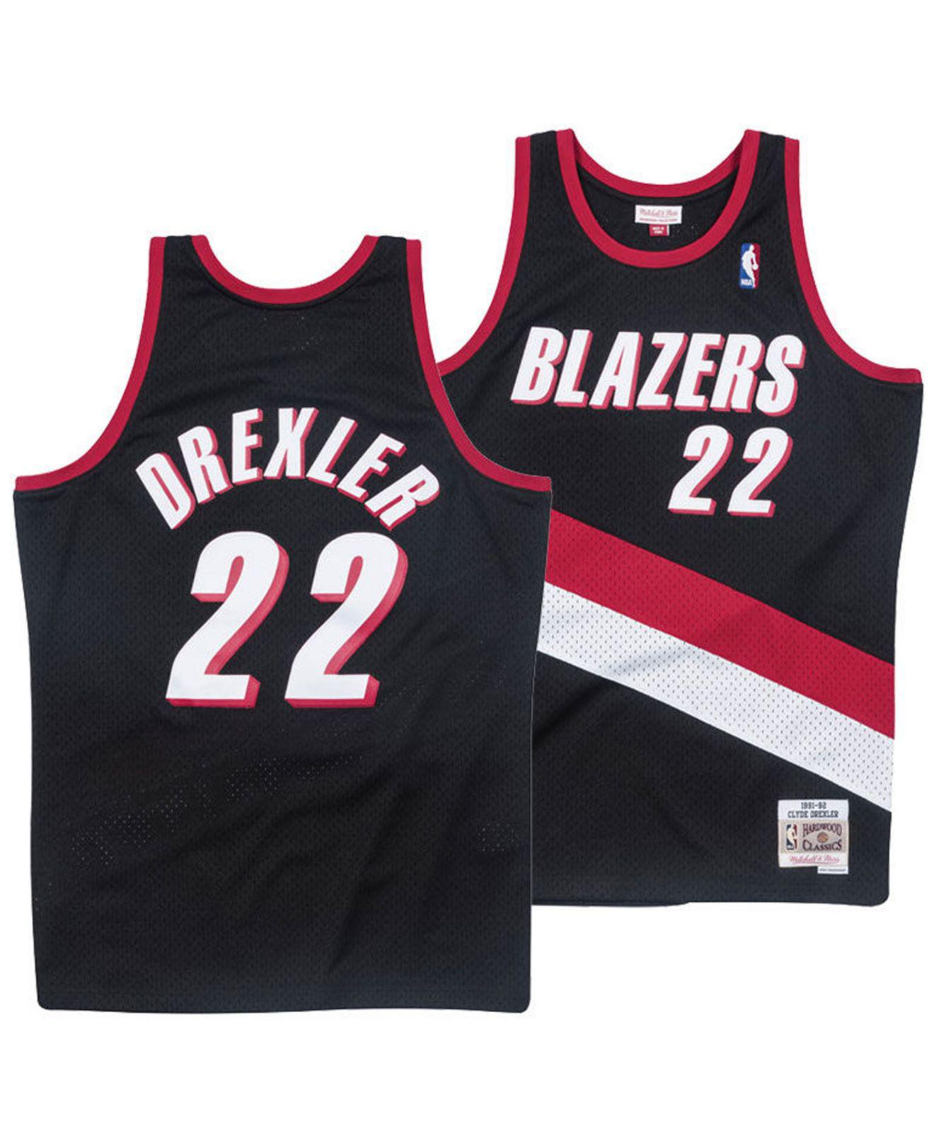 low priced 1065c 0a431 Men's Black Clyde Drexler Portland Trail Blazers Hardwood Classic Swingman  Jersey