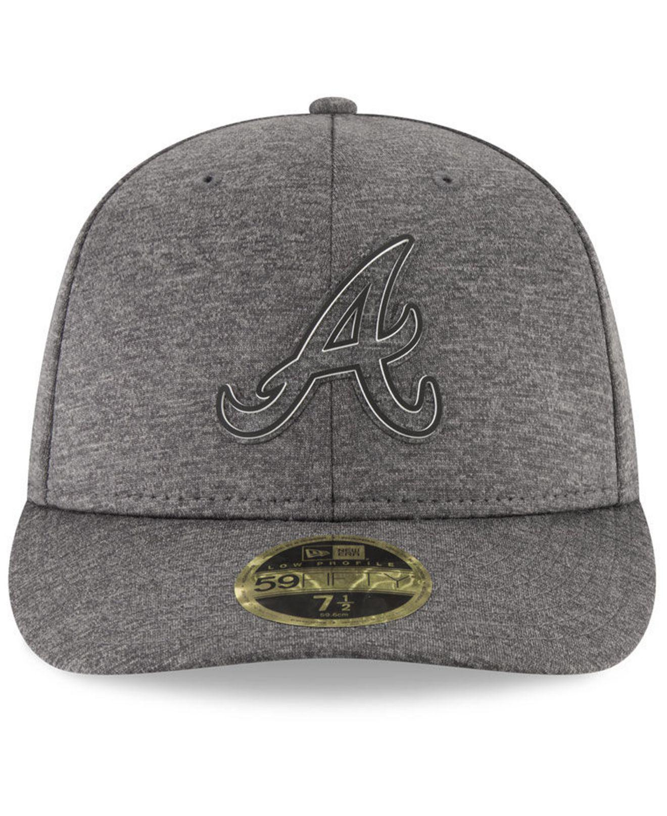 new style e6f54 16ef1 ... reduced lyst ktz atlanta braves clubhouse grey low profile 59fifty  fitted 587a9 afd22