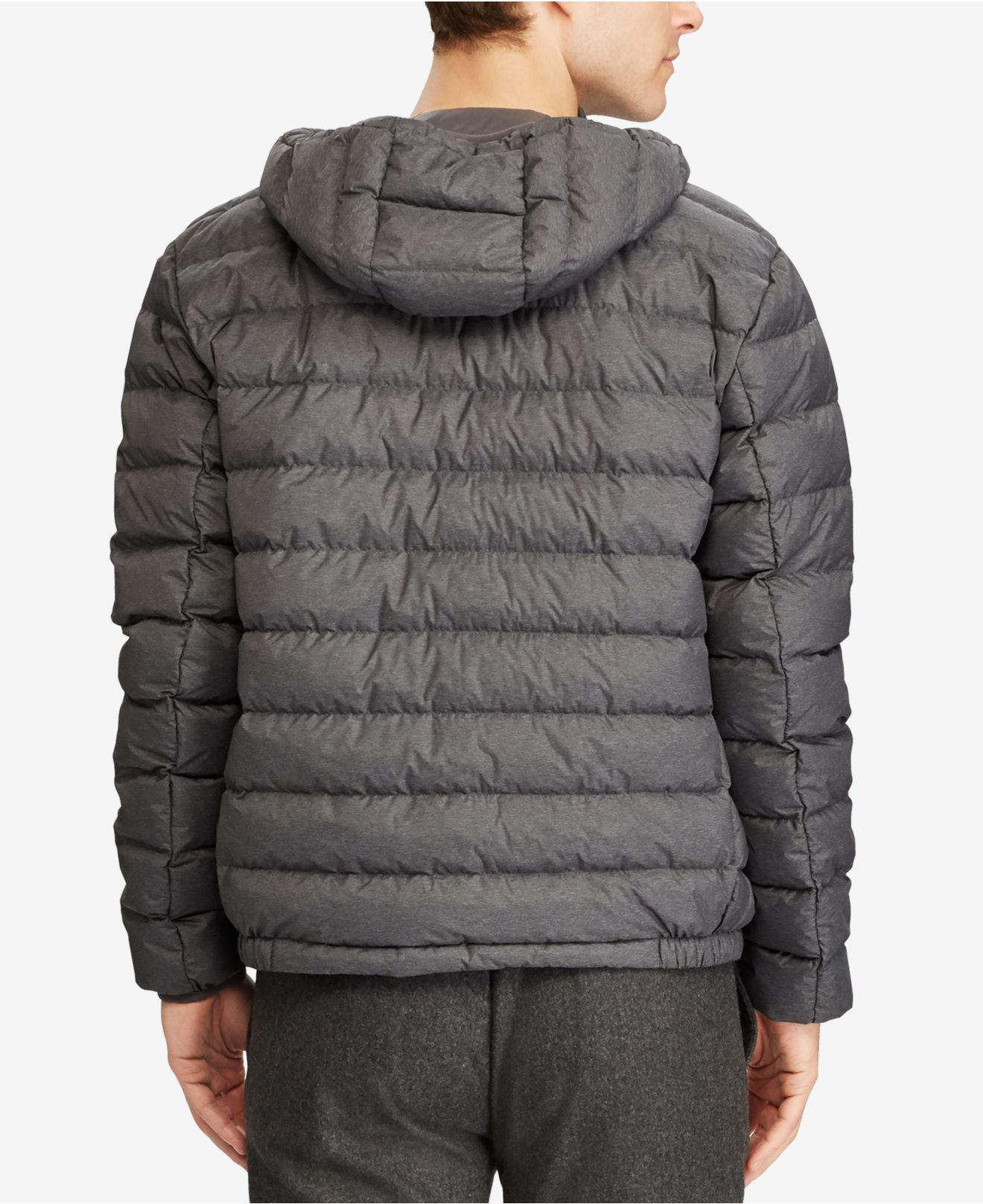be1e2964e Polo Ralph Lauren Big   Tall Packable Hooded Down Jacket in Gray for ...