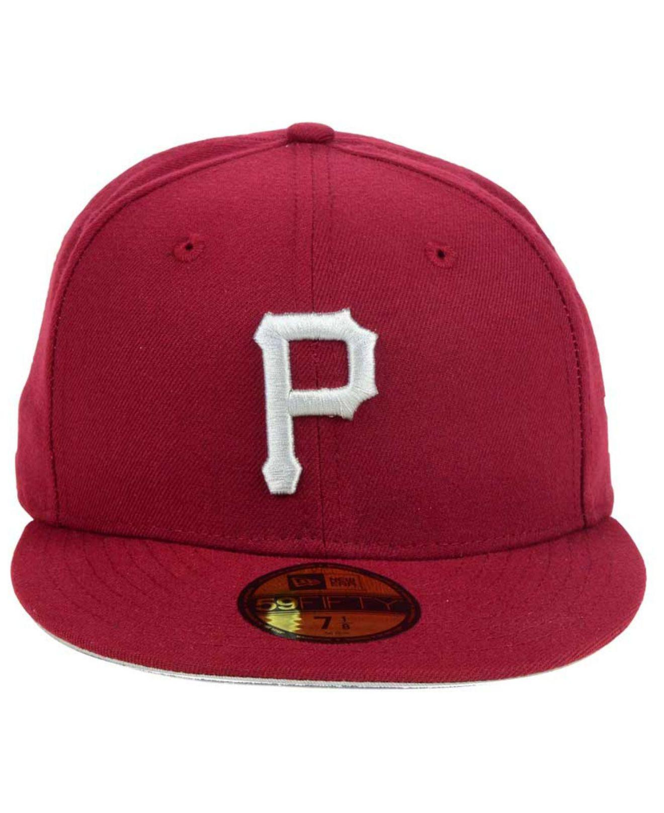 6438a236d66 Lyst - Ktz Pittsburgh Pirates Cardinal Gray 59fifty Cap in Red for Men