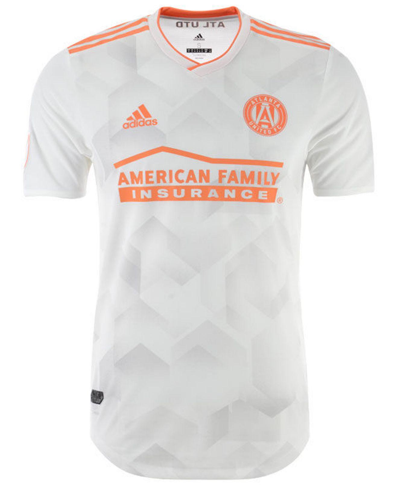 pretty nice 3d618 e5542 Men's White Atlanta United Fc Secondary Authentic Jersey