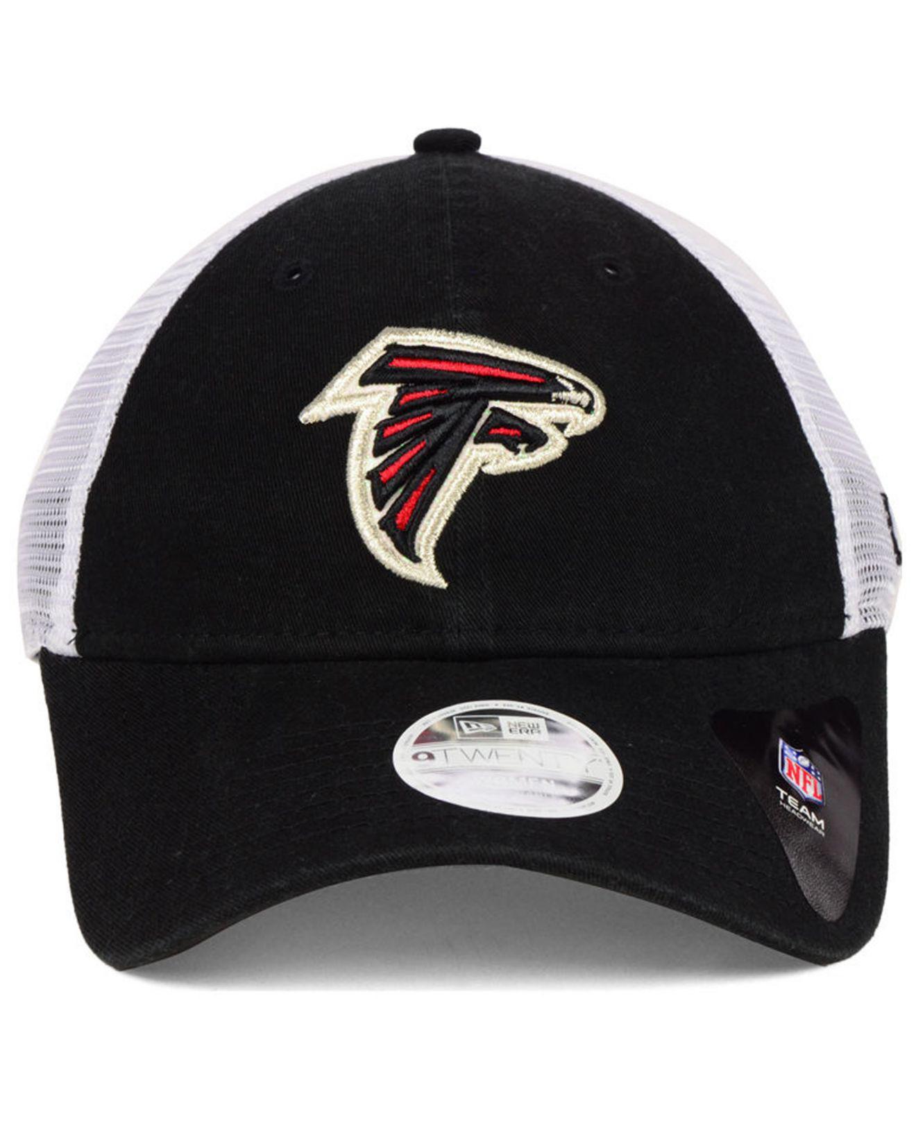 promo code 9e9c3 382b0 ... closeout lyst ktz atlanta falcons trucker shine 9twenty cap in black  ec677 41026