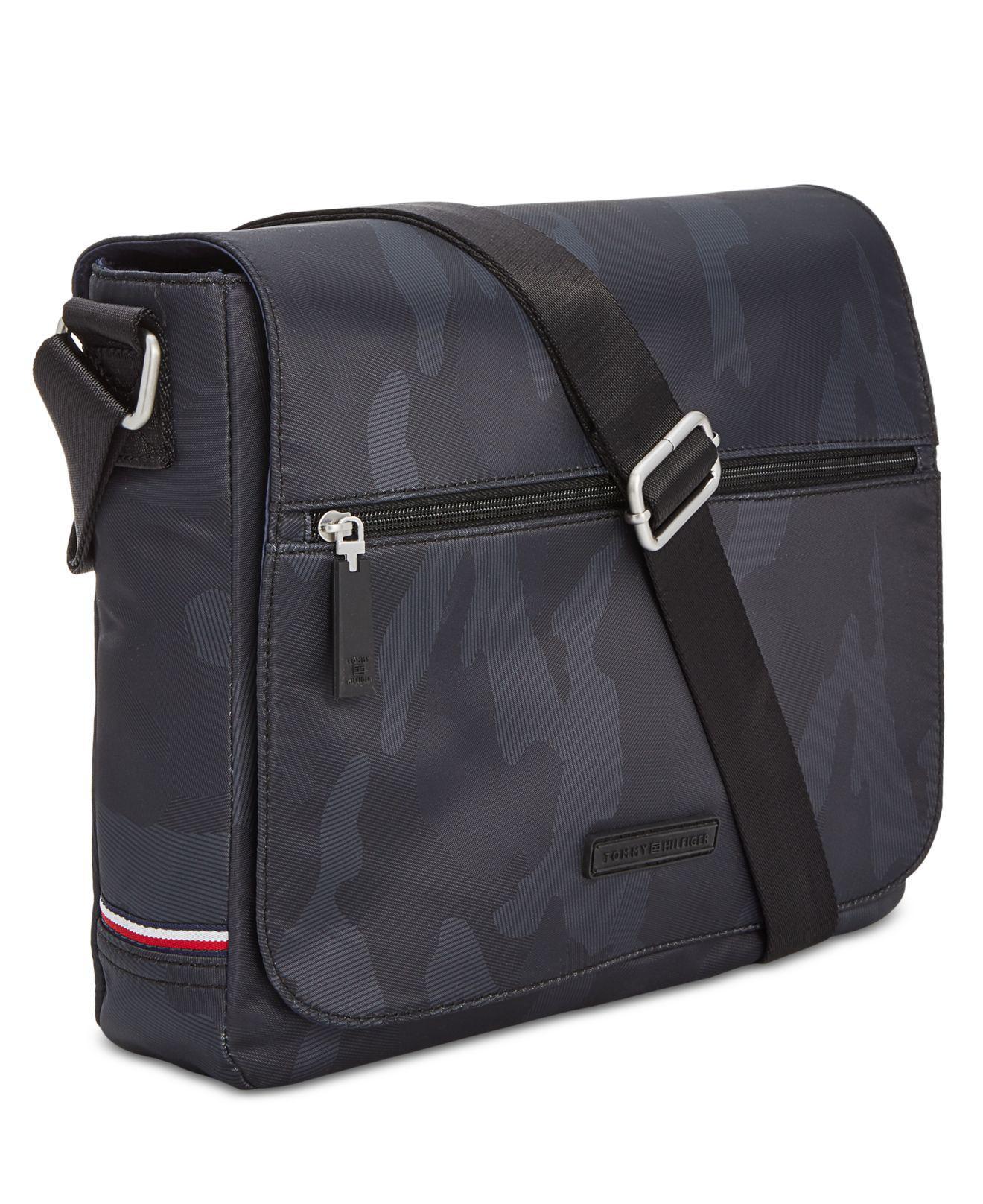 a5e75ea08eb2 Lyst - Tommy Hilfiger Camo Messenger Bag in Black for Men