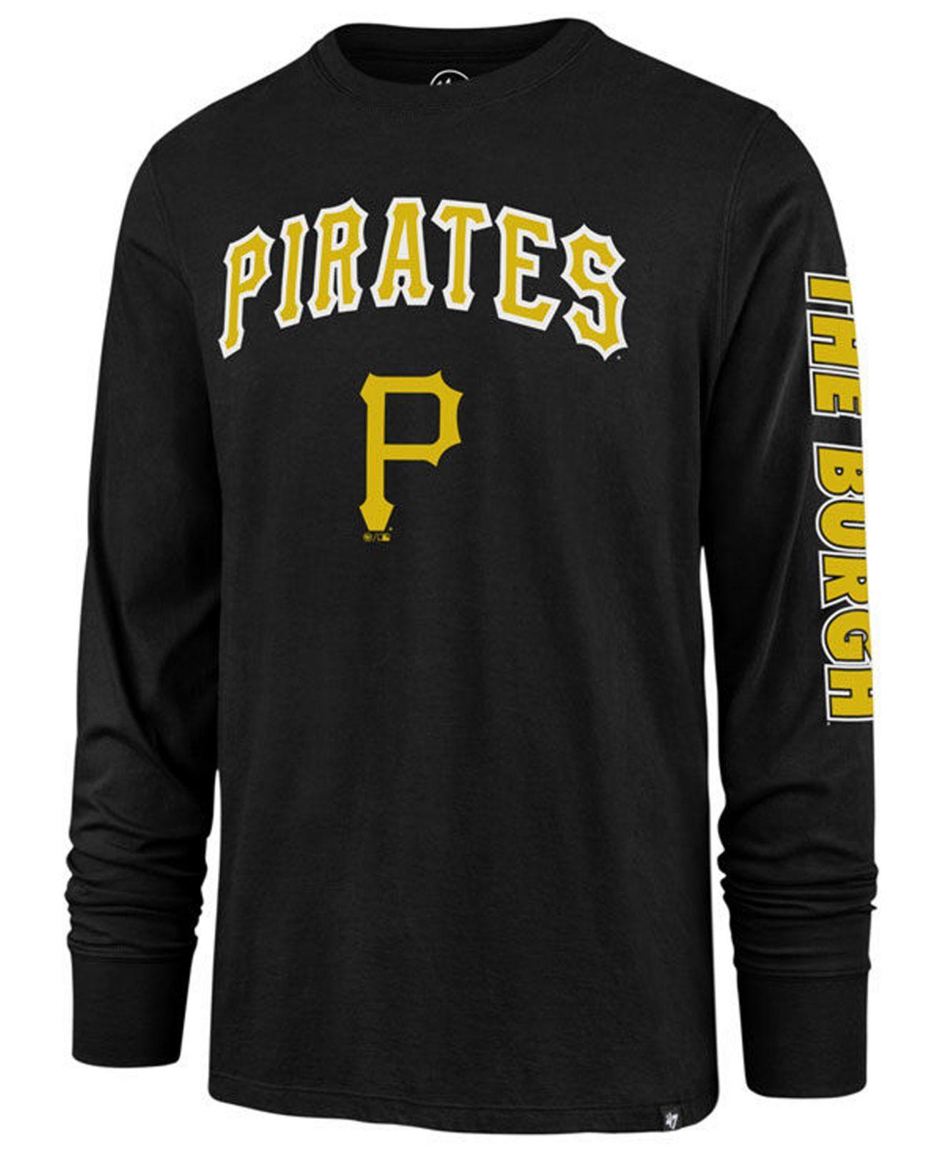 9569bd6ab 47 Brand. Men s Black Pittsburgh Pirates Rival Local Long Sleeve T-shirt
