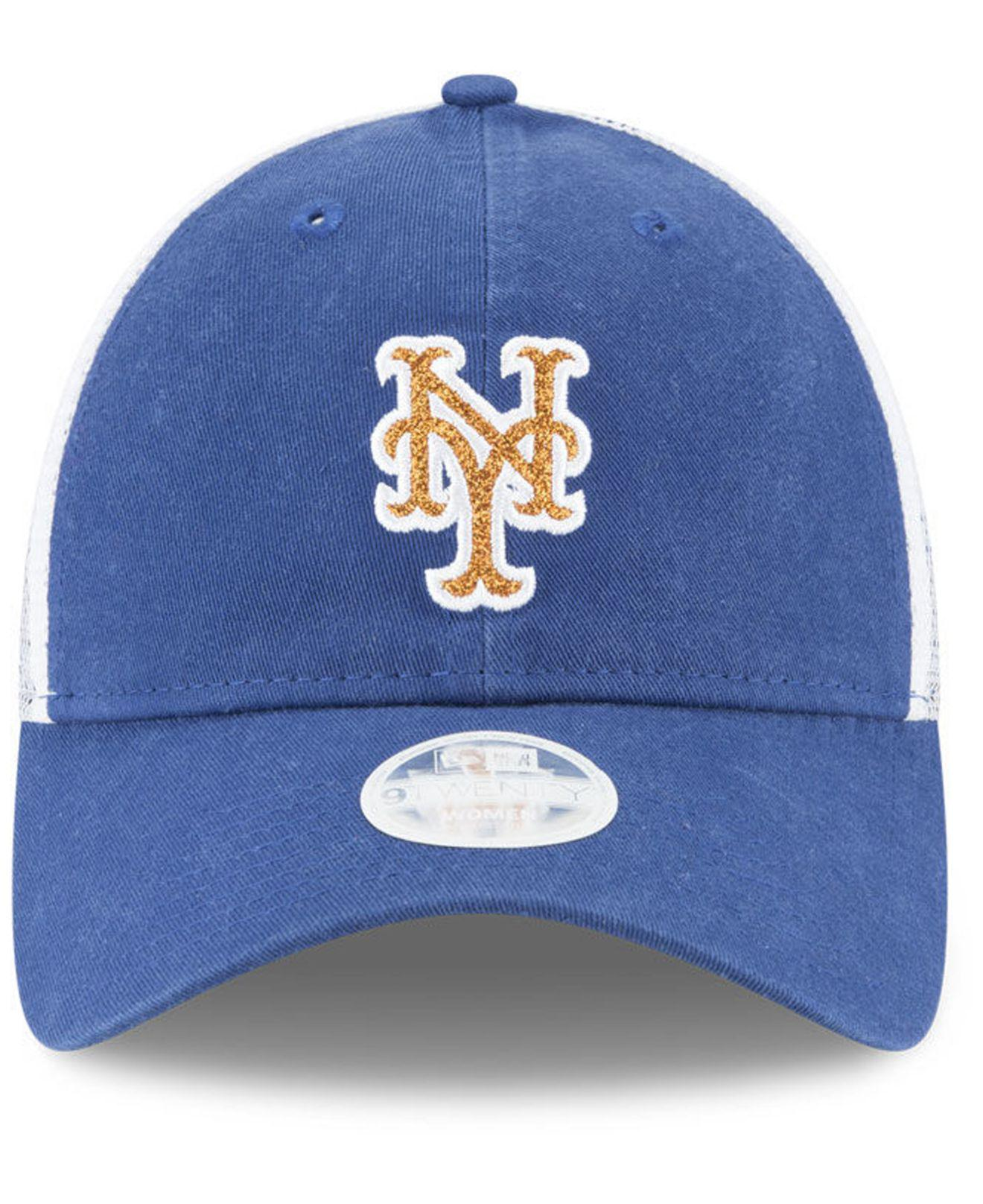9462d0fffb748 ... low price lyst ktz new york mets trucker shine 9twenty cap in blue for  men 7a6e0