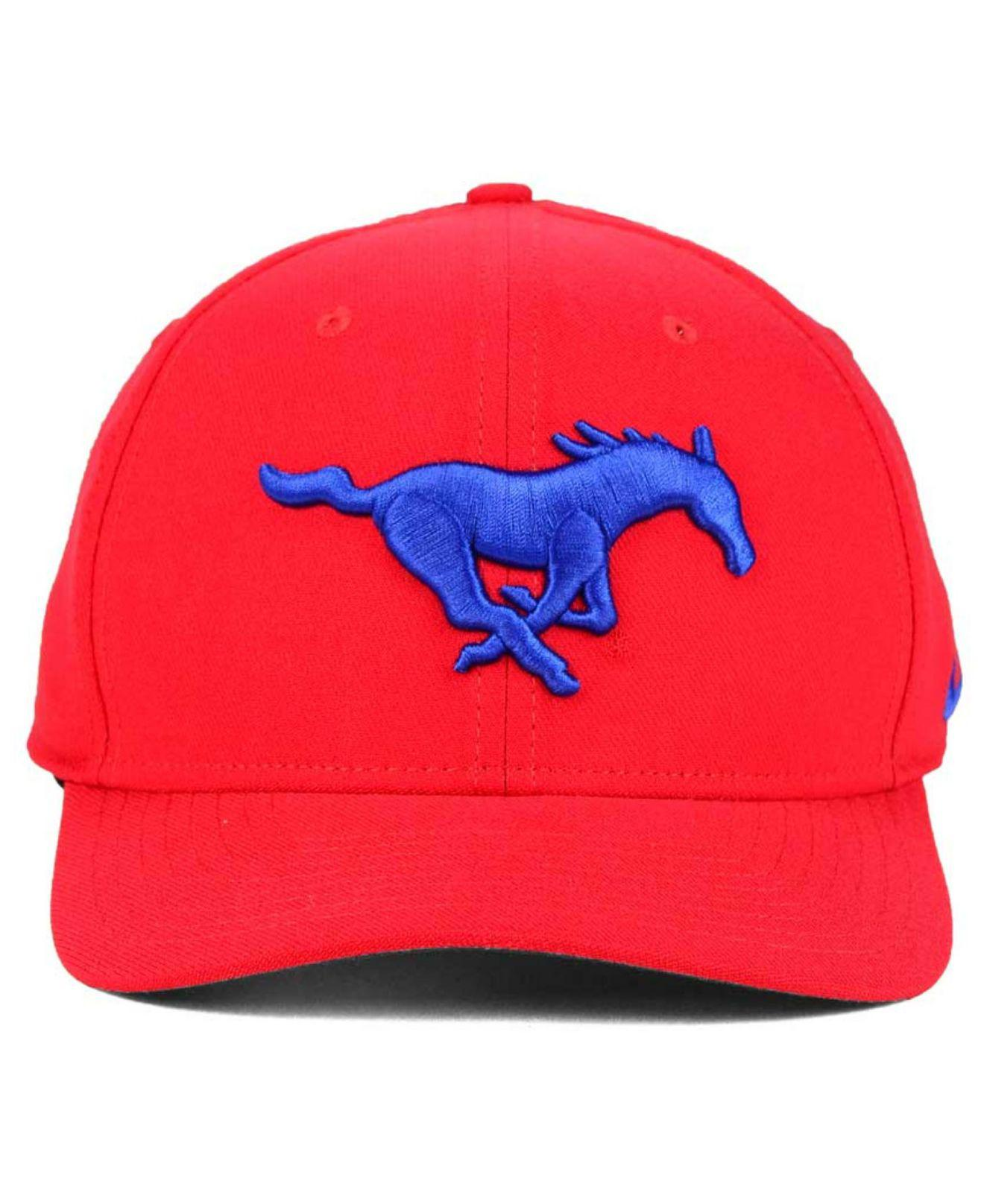 fe8cef0c17e ... discount code for lyst nike southern methodist mustangs classic swoosh  cap in red for men 57423