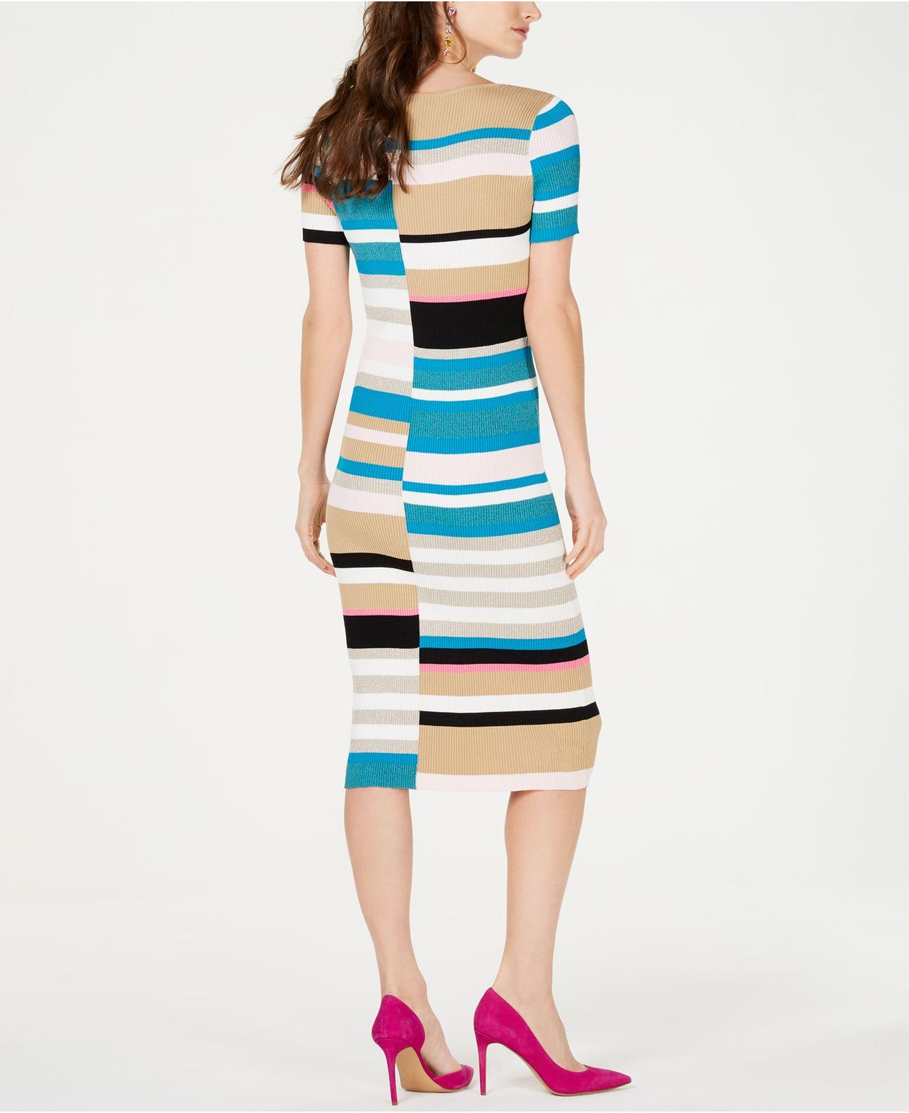 21f471b71a4 Lyst - INC International Concepts I.n.c. Petite Colorblocked Short-sleeve Sweater  Dress