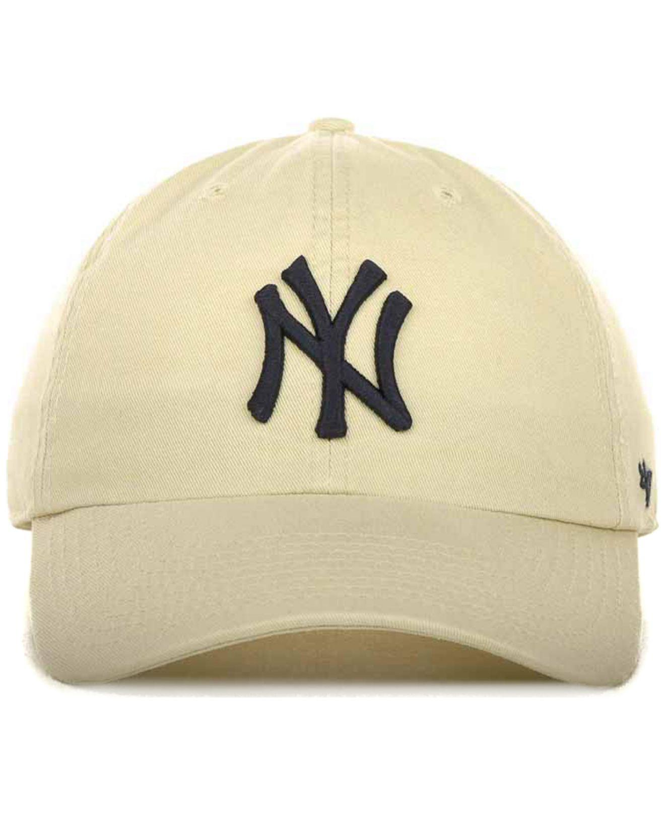 4dab4883a4ee0 Lyst - 47 Brand New York Yankees Clean Up Hat in Natural for Men