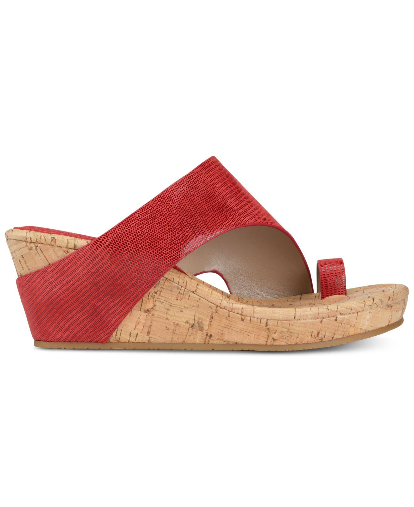 ab1305053650 Lyst - Donald J Pliner Gyer Wedge Sandals in Red - Save 25%