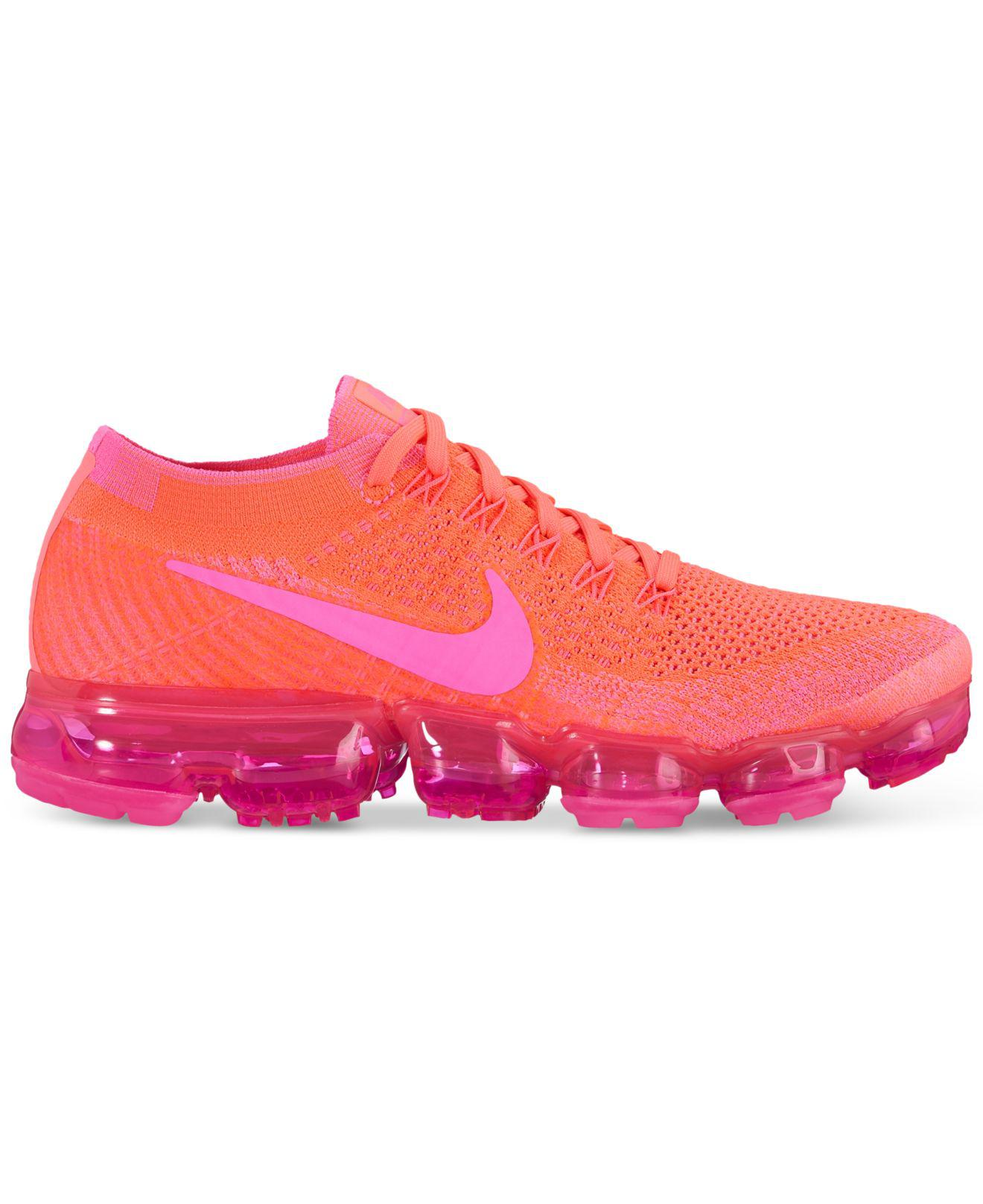 online store e0812 a3a59 Nike Pink Air Vapormax Flyknit Running Sneakers From Finish Line