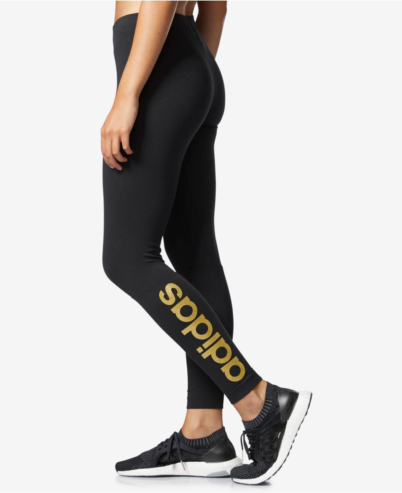 adidas leggings logo