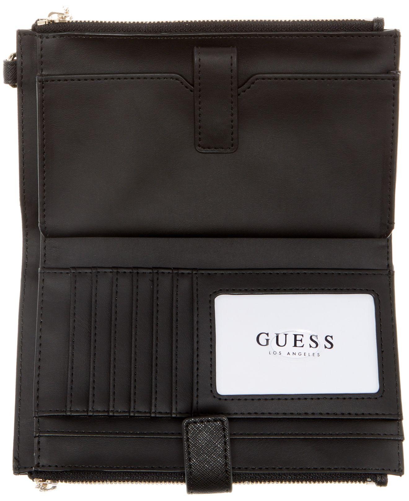 Femmes-Porte Monnaie Purse Wallet Guess Queenie Double Zip Organizer Noir