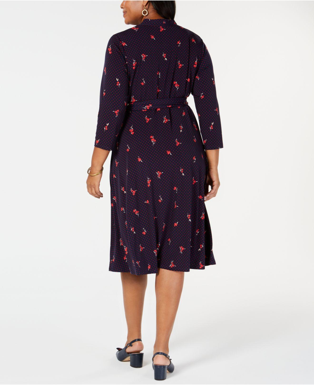 Lyst - Charter Club Plus Size Printed Midi Dress, Created For Macy\'s ...