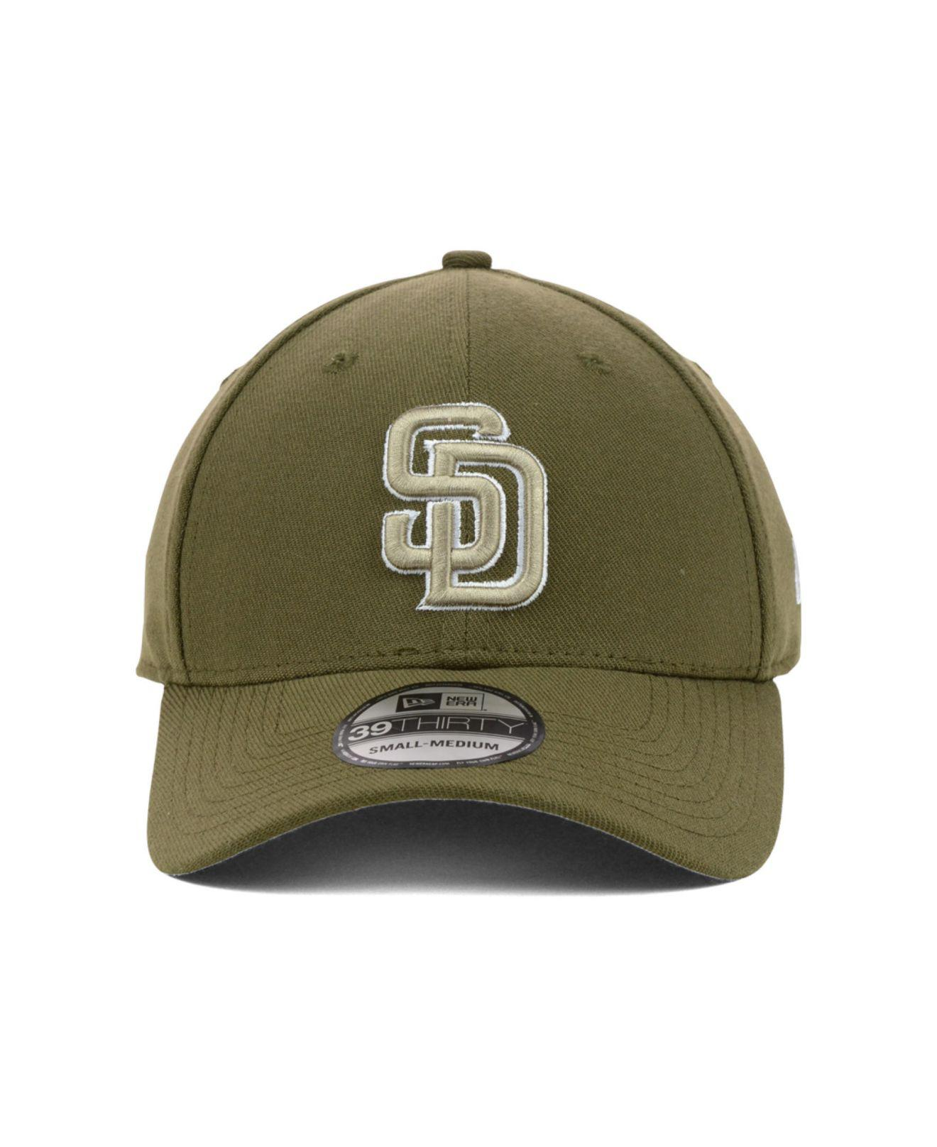 162871bad ... snapback hat grey white 860ba d7302; canada lyst ktz san diego padres  mlb team classic 39thirty cap in brown for men 11bda