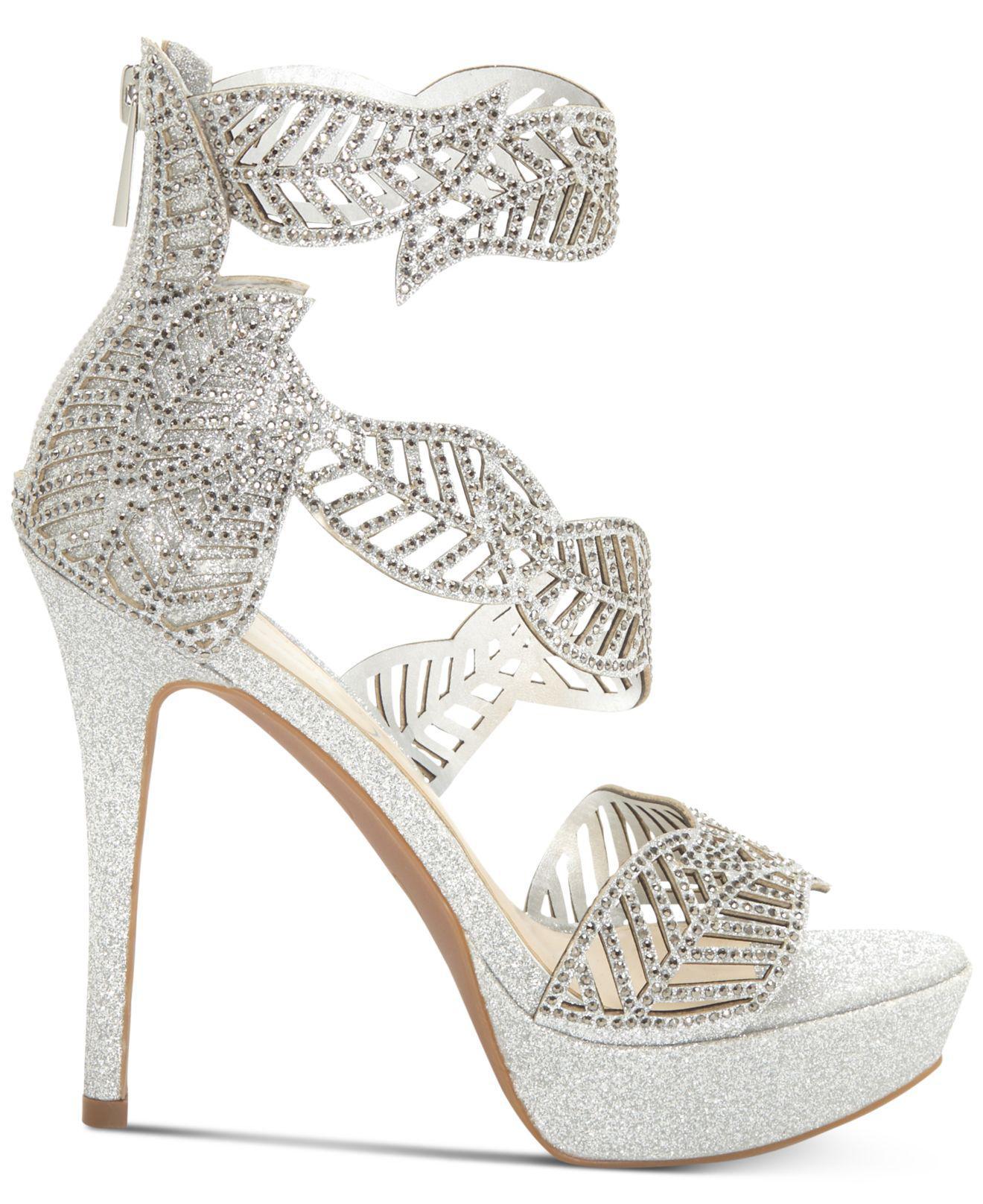 66fa3ac8bdd2 Lyst - Jessica Simpson Bonilynn Platform Dress Sandals in Metallic