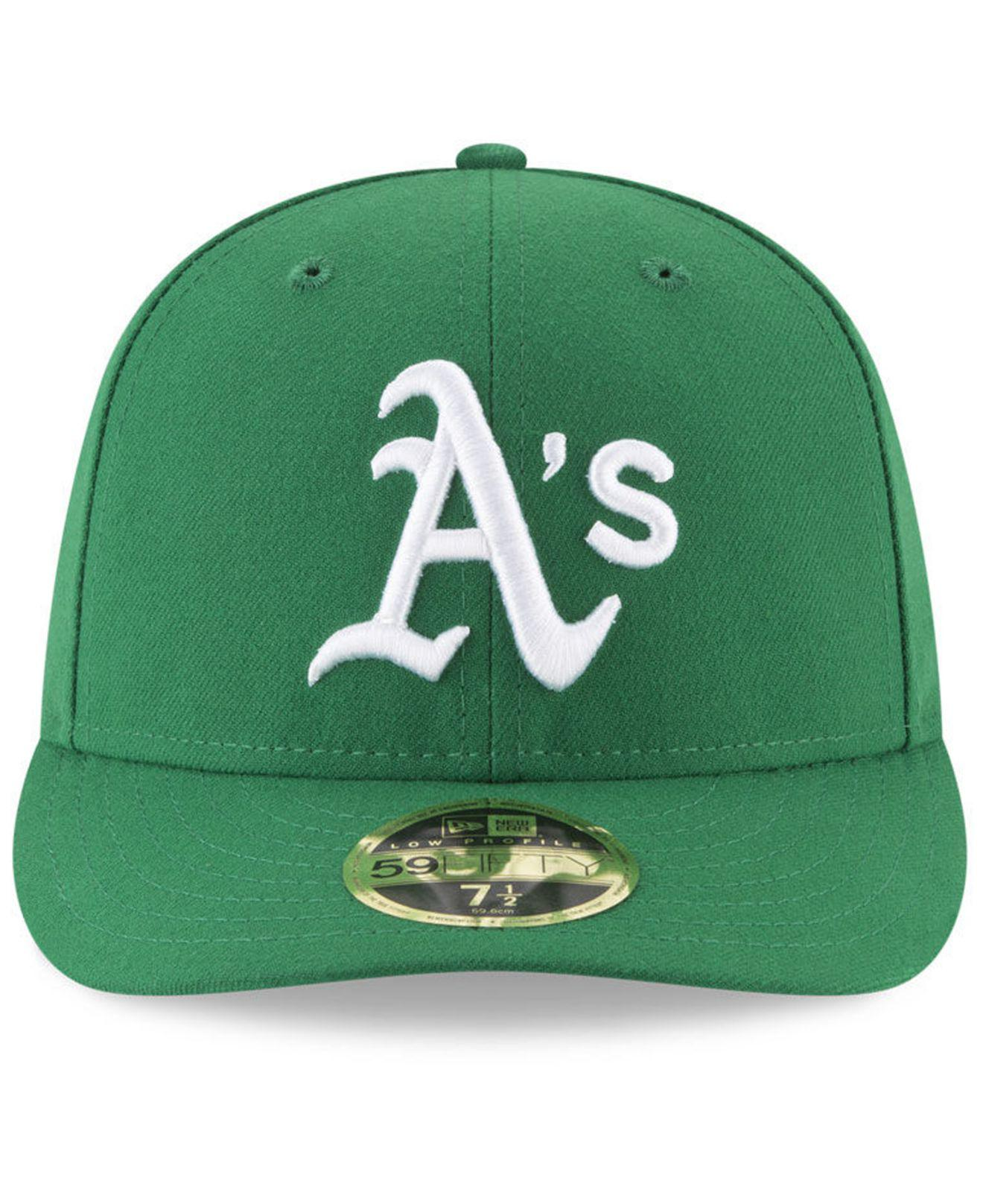 Lyst - Ktz Oakland Athletics Low Profile Ac Performance 59fifty Fitted Cap  in Green for Men 621539f7627e
