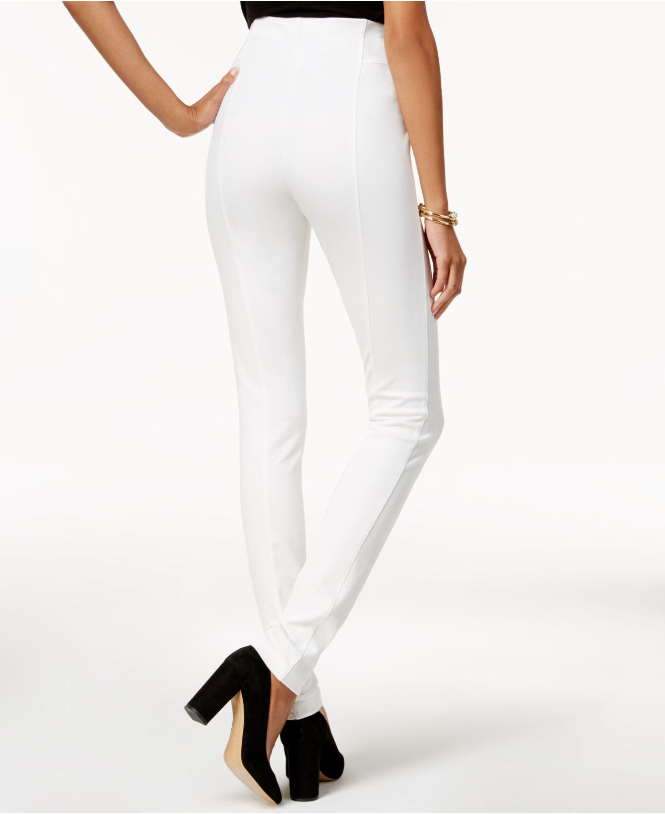 3fb08e9c4c681 Lyst - INC International Concepts High-waist Skinny Pants in White