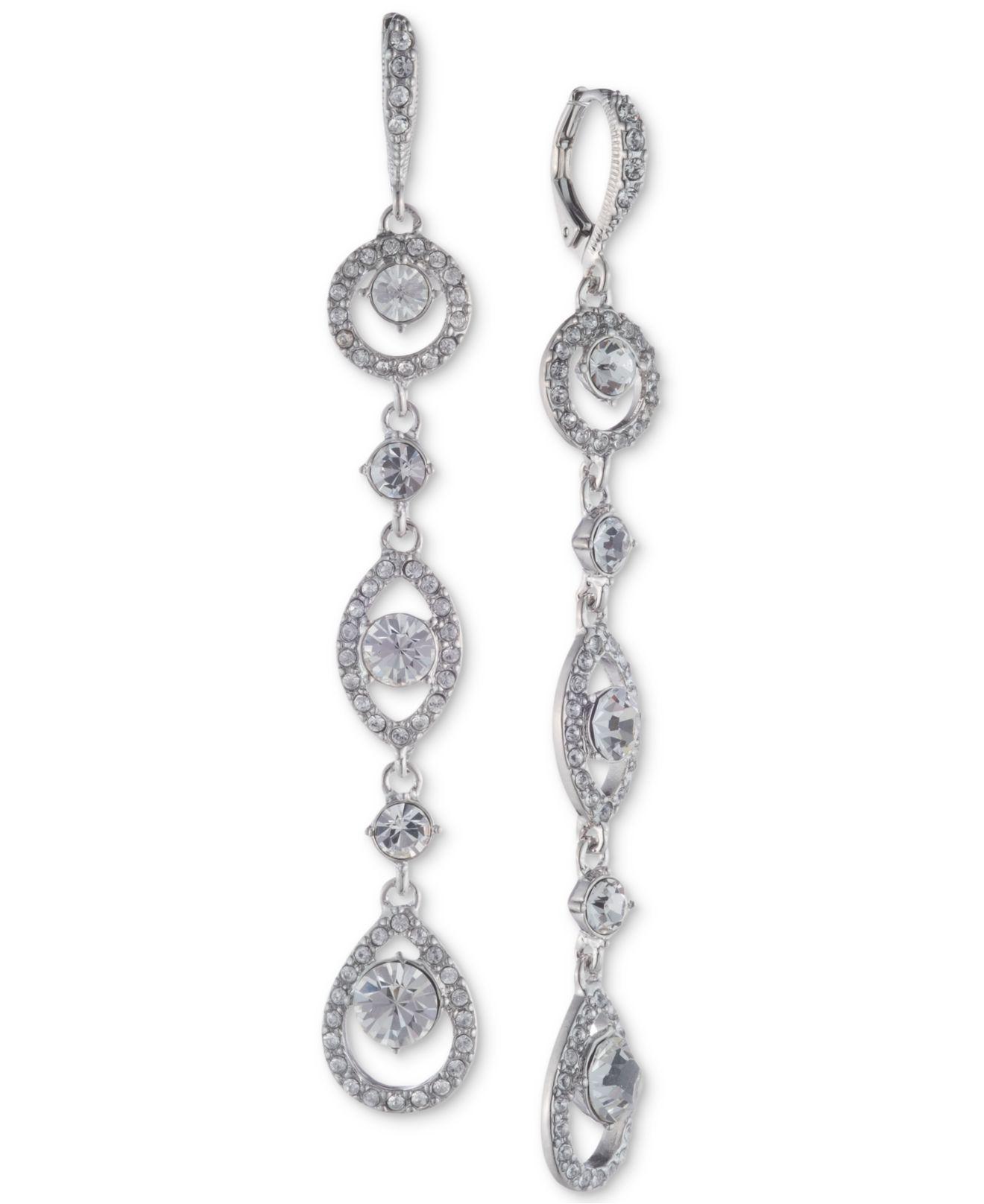 c6e416ae7d92d Women's Crystal Linear Drop Earrings