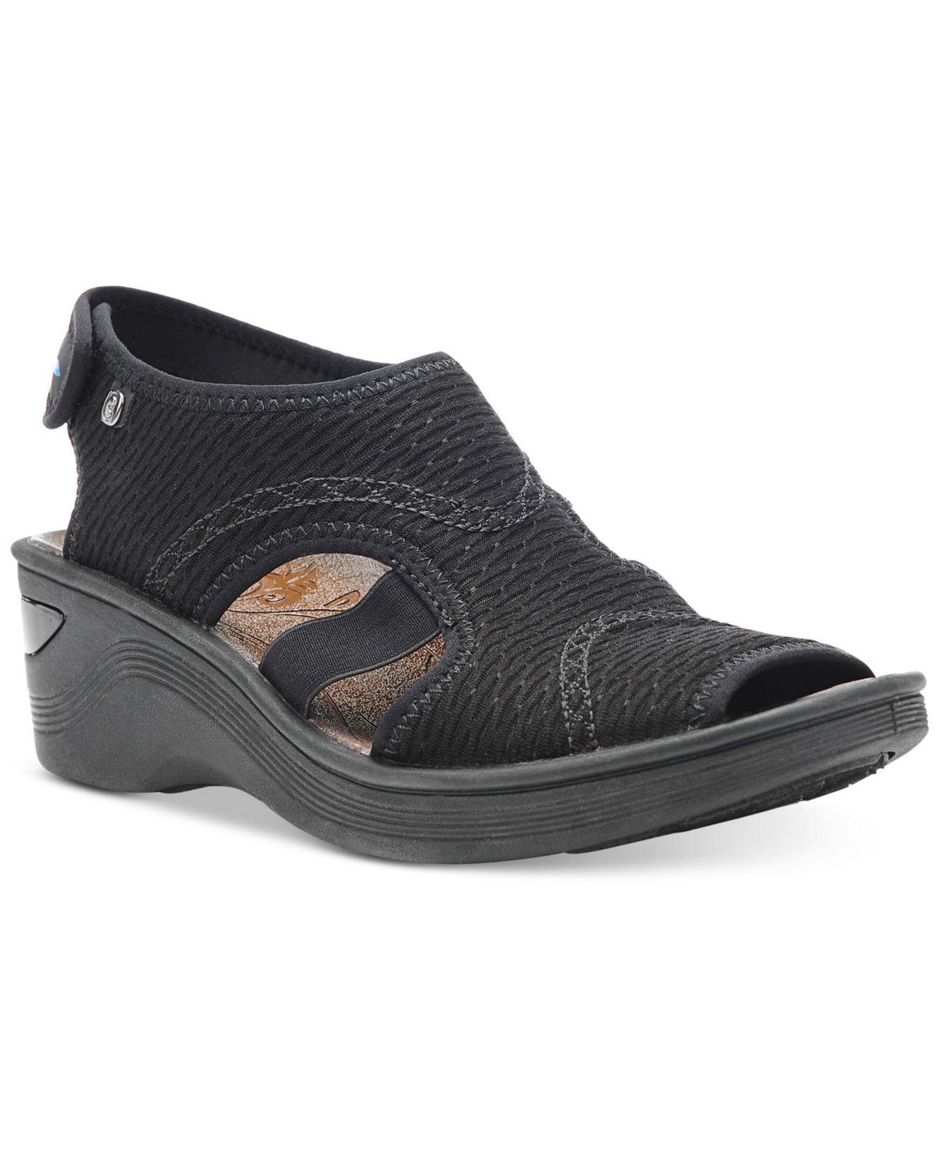452c477eb9b Lyst - Bzees Dream Wedge Sandals in Black