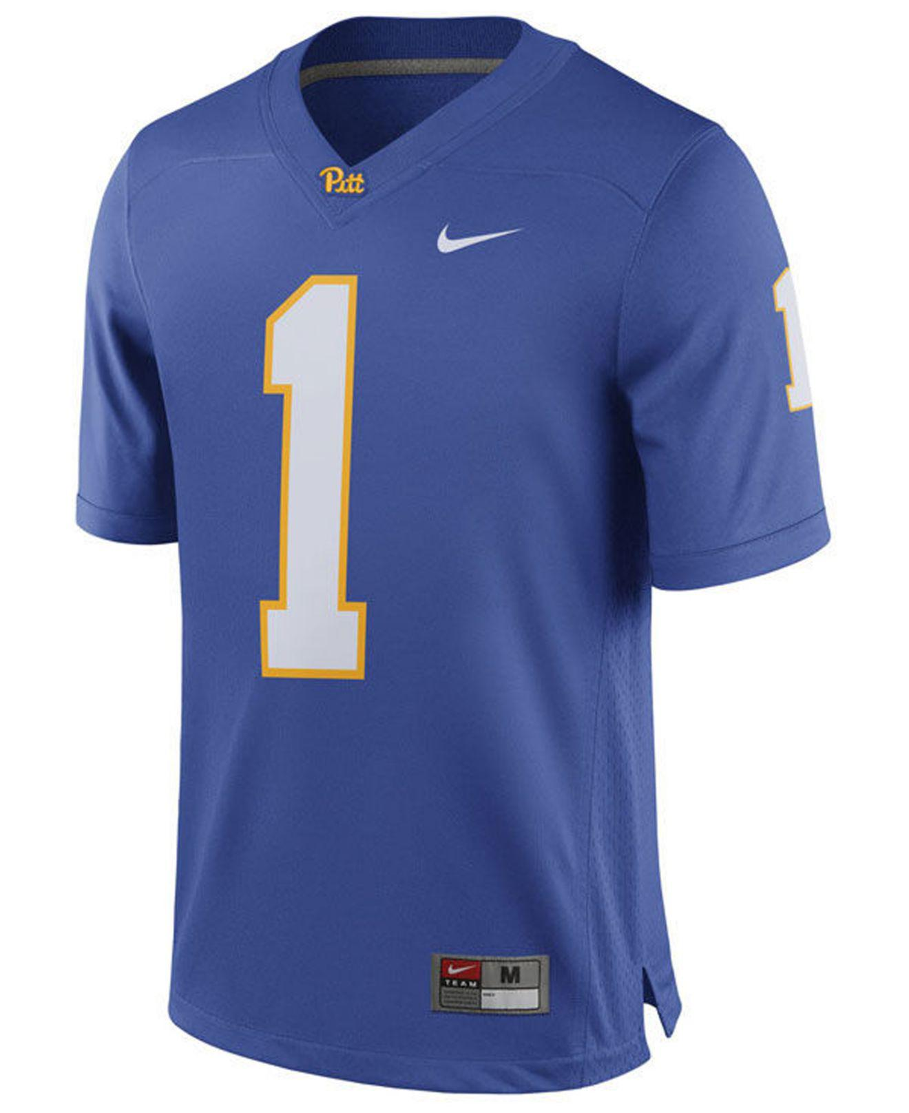 premium selection f0d2f 22462 Men's Blue Pittsburgh Panthers Replica Football Game Jersey