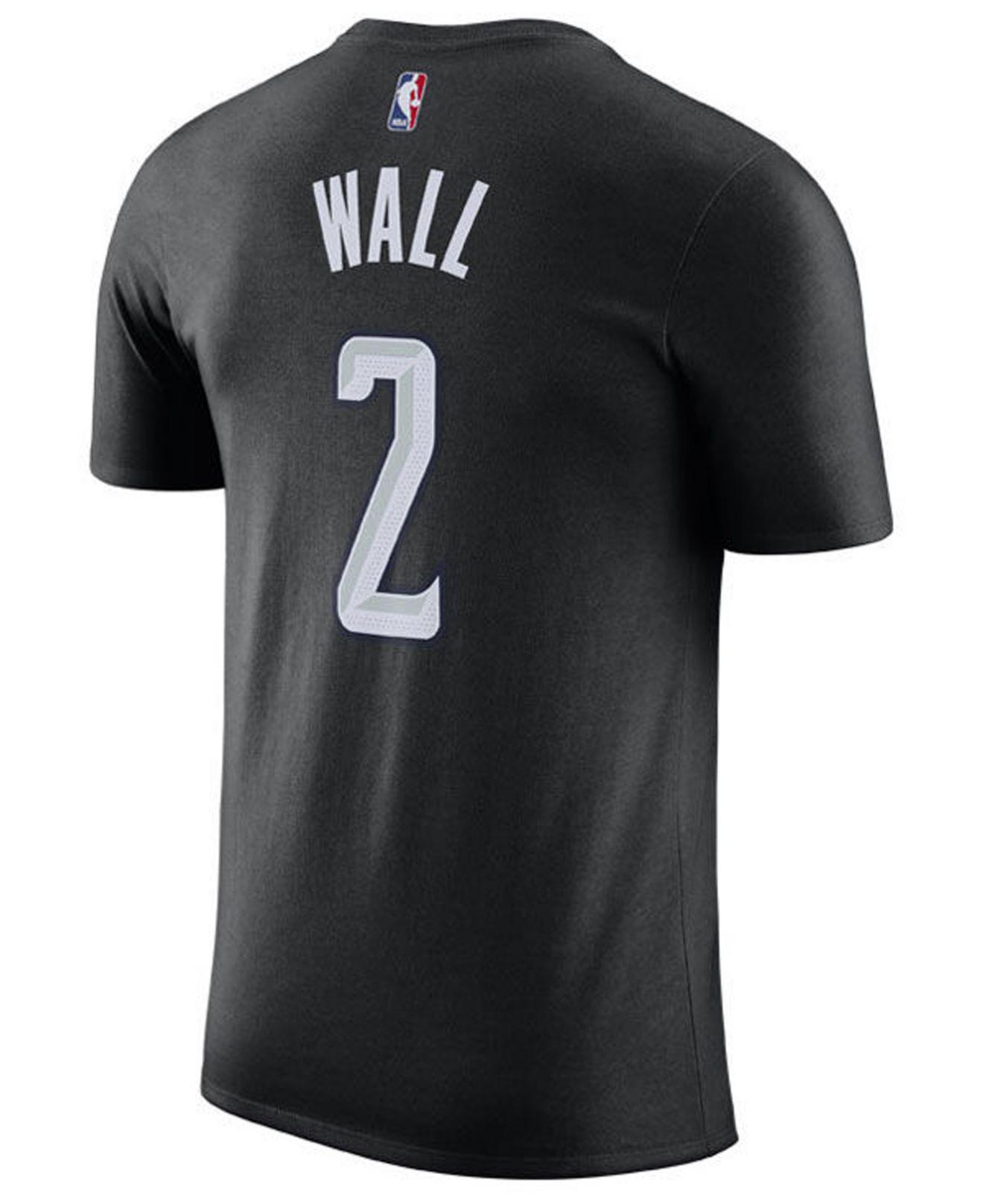 0b6f3e3c7 Nike John Wall Washington Wizards City Player T-shirt 2018 in Black for Men  - Lyst