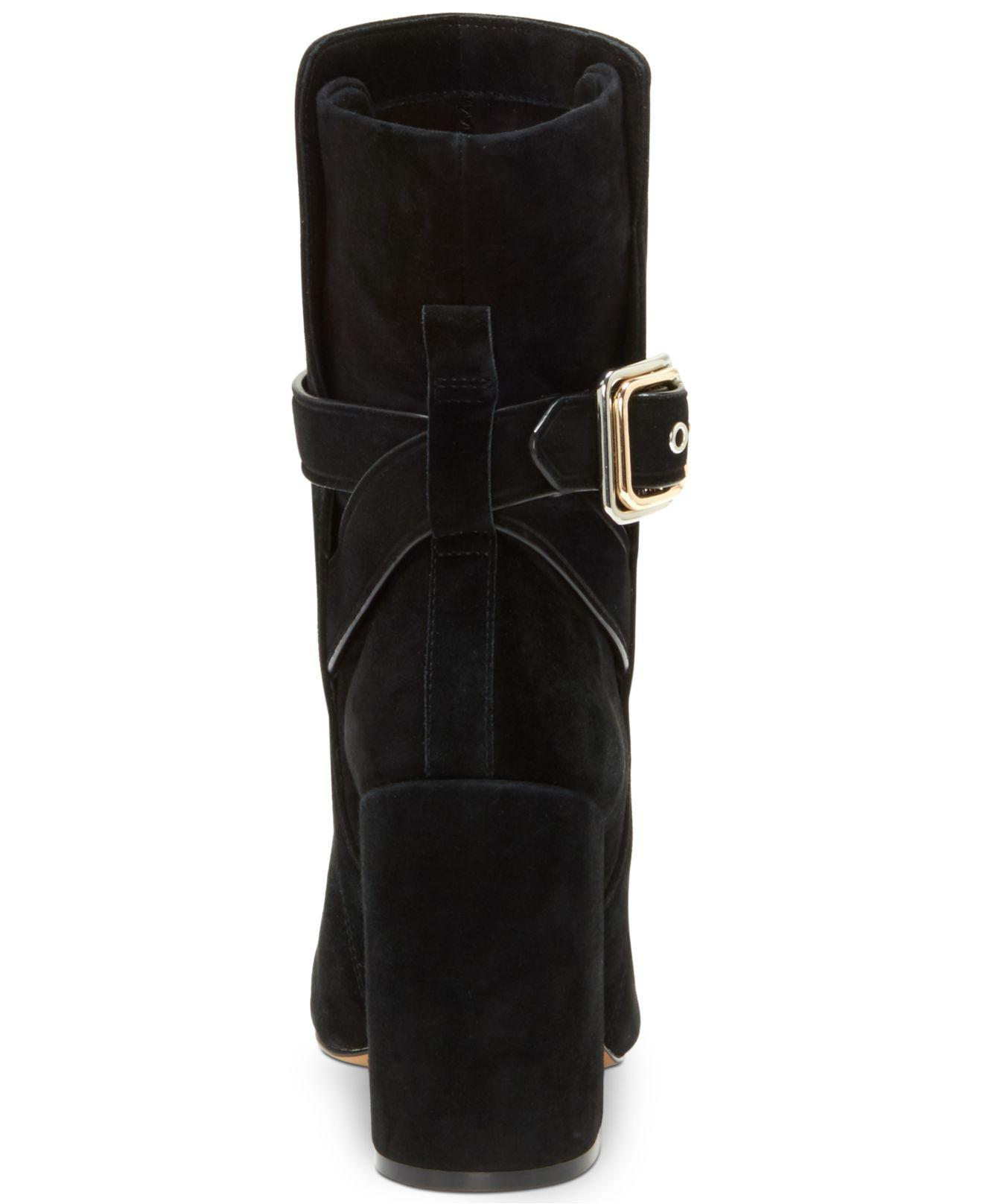 86f985f4c5a2 Lyst - Vince Camuto Damefaris – Mixed-metal Buckle Bootie in Black