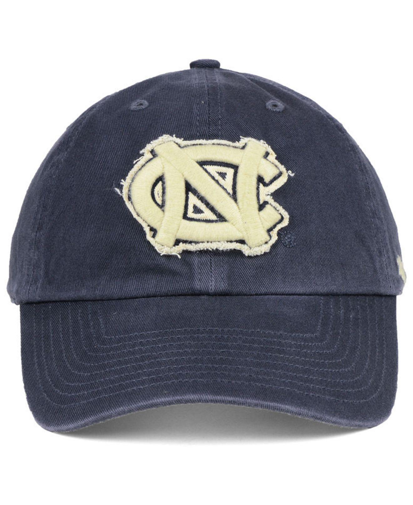 6792cb08c17 ... low price lyst 47 brand north carolina tar heels double out clean up cap  in blue