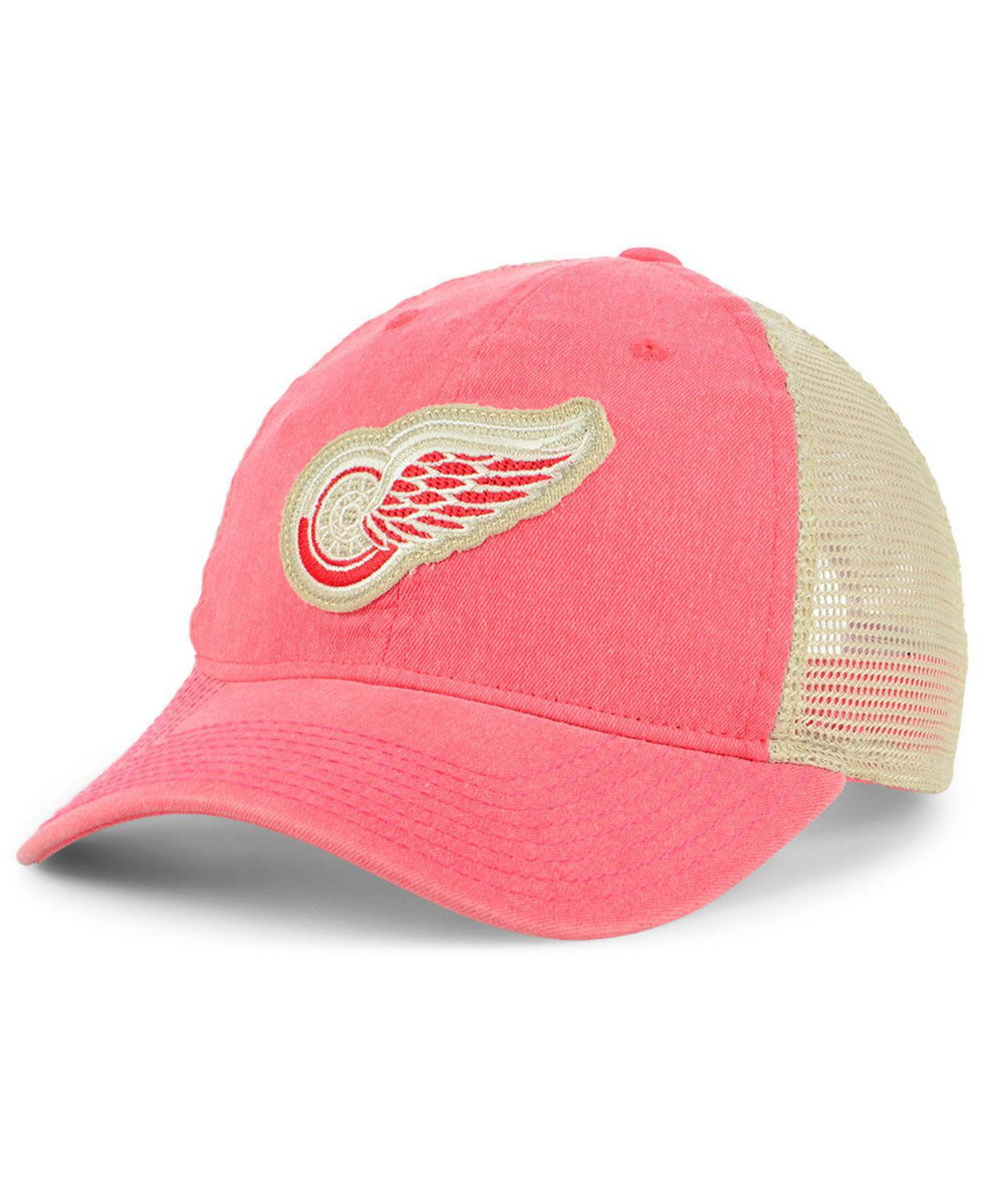 low priced 3a296 bd136 Lyst - adidas Detroit Red Wings Sun Bleached Slouch Cap in Red for Men