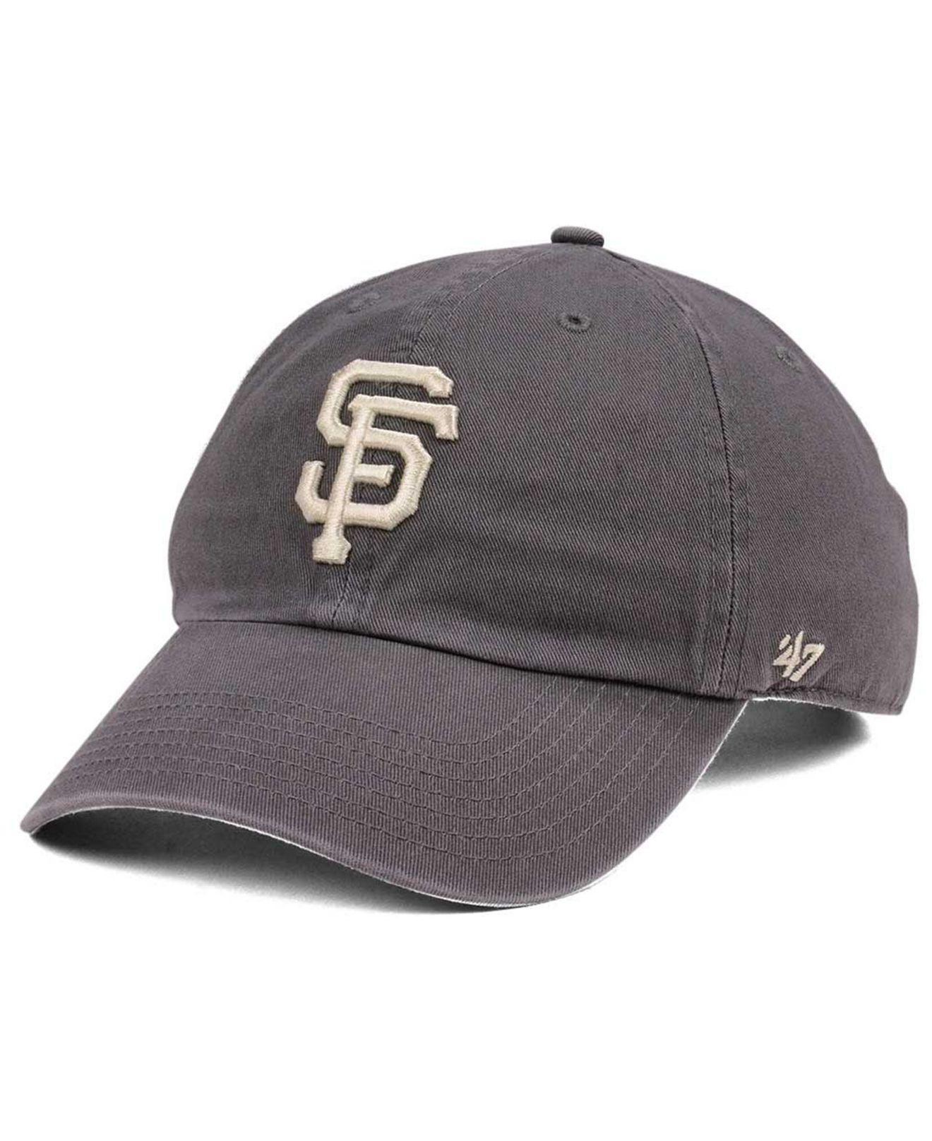 27e5e03182efb ... inexpensive 47 brand. mens san francisco giants dark gray clean up cap  fcdb7 c735a