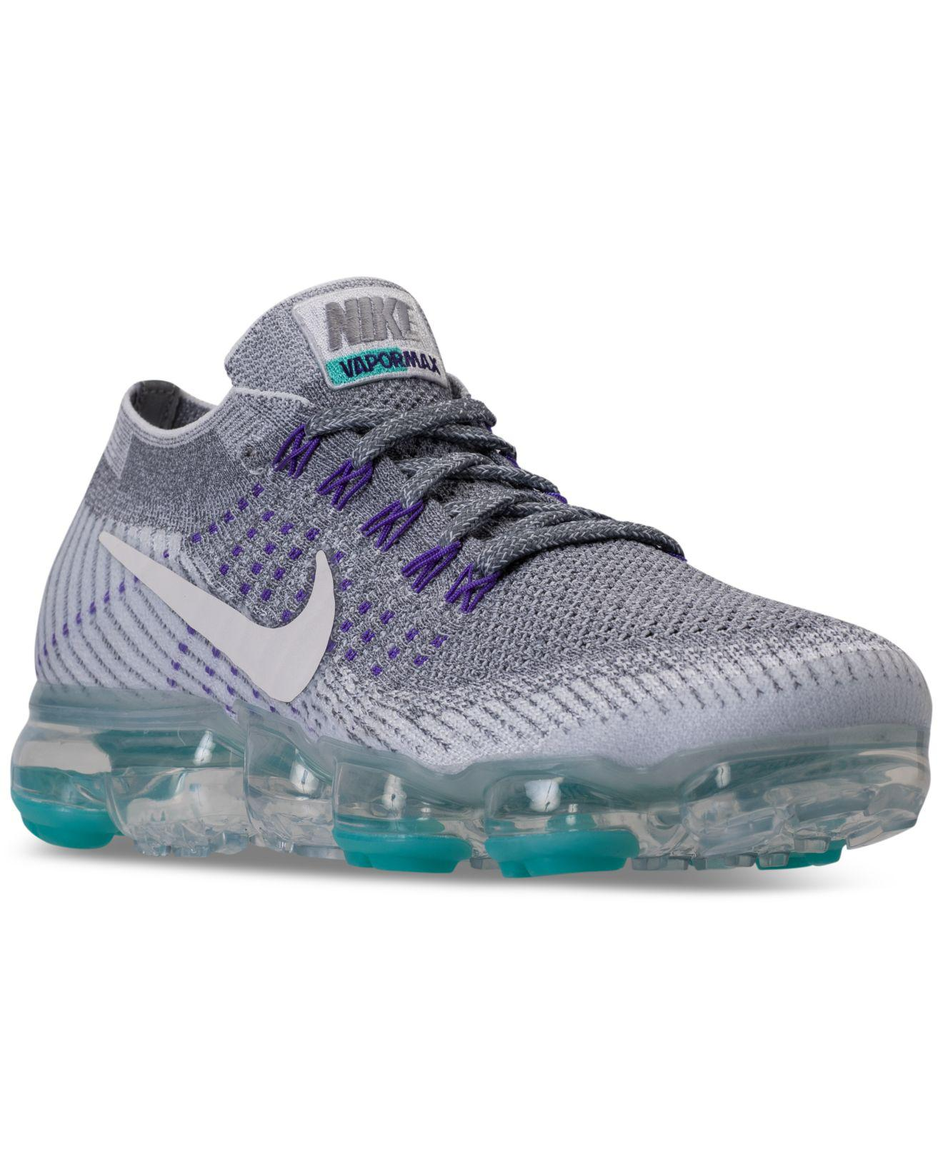 quality design bce3f 21cef Nike Gray Air Vapormax Flyknit Running Sneakers From Finish Line