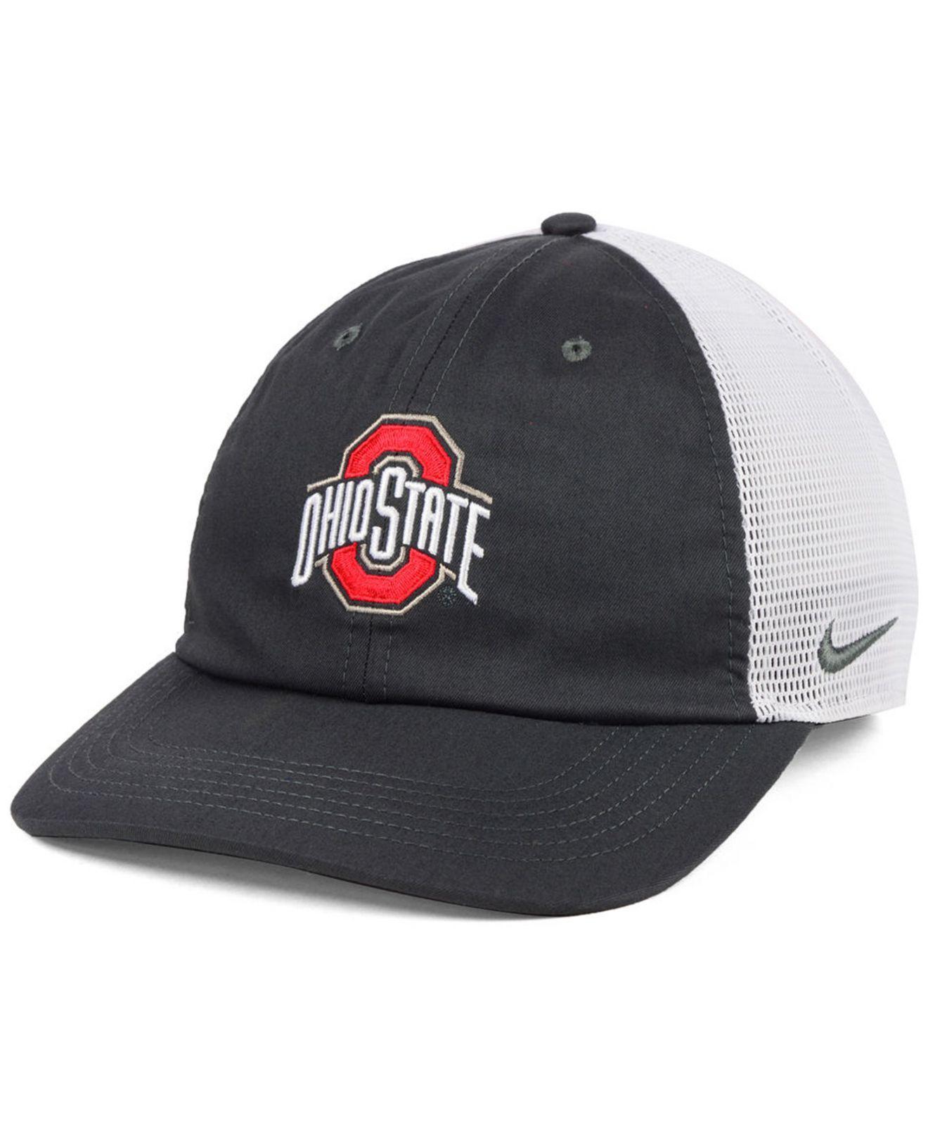 new arrival c6092 956fc Nike. Men s Ohio State Buckeyes H86 Trucker Snapback Cap