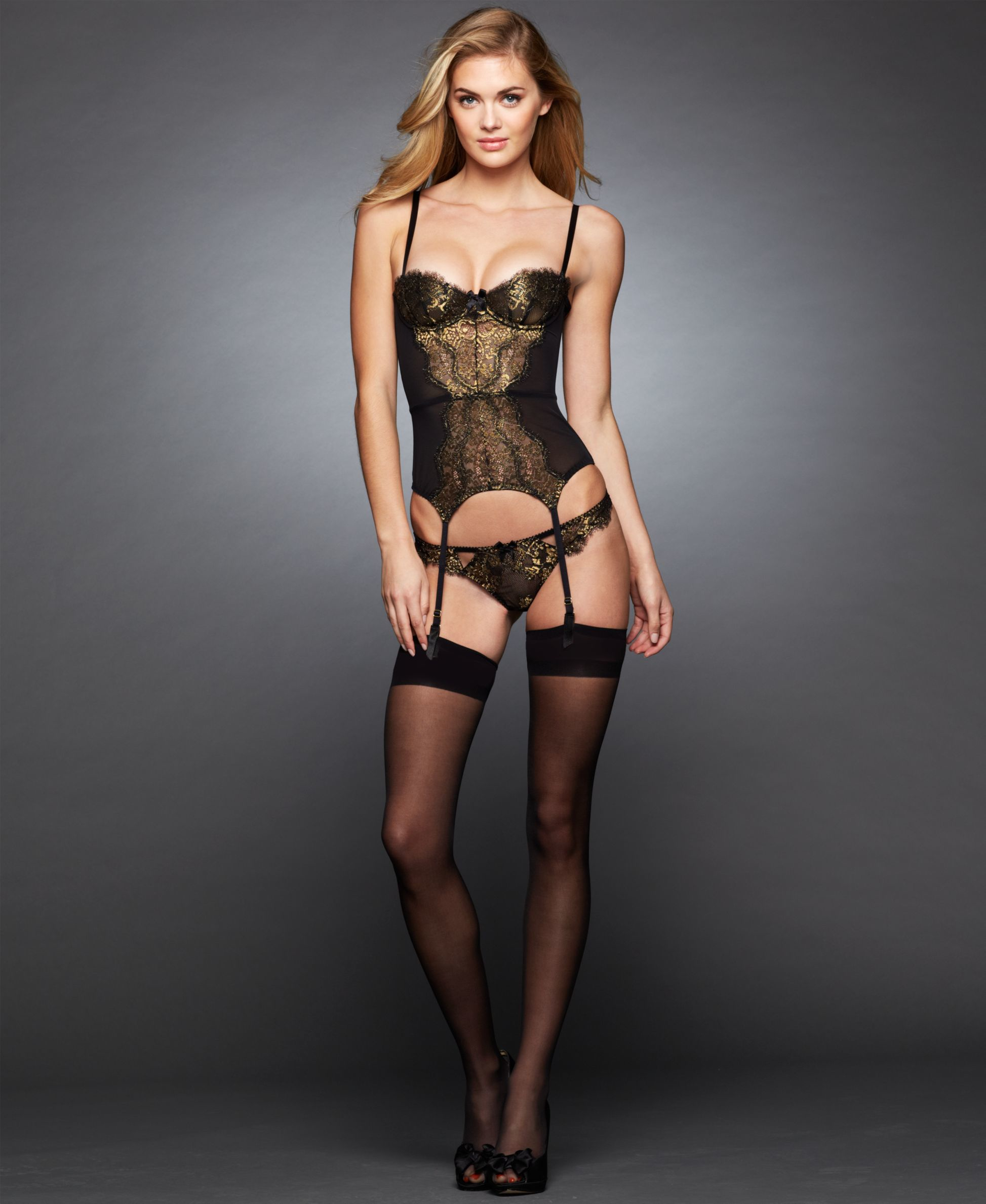 f4297f003c Lyst - L Agent by Agent Provocateur Iana Basque L072-25 in Metallic