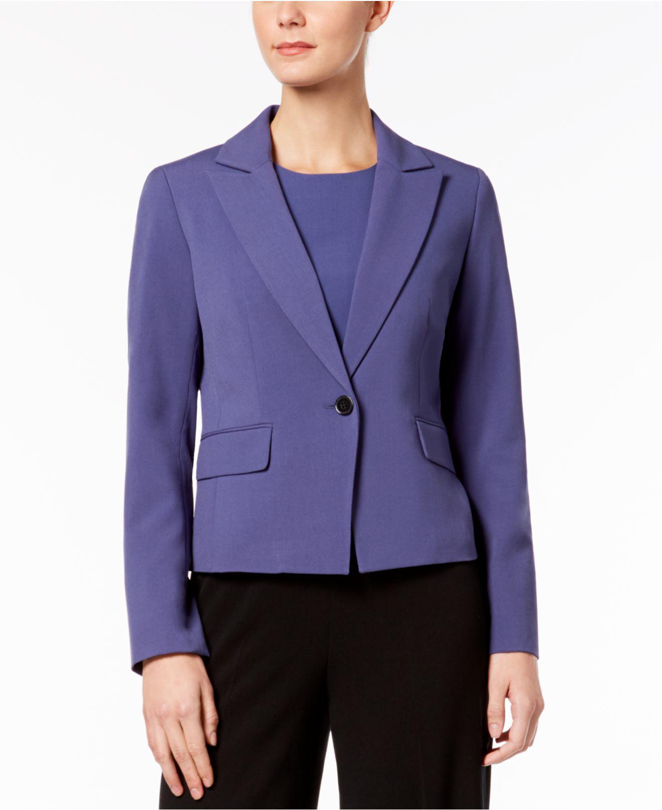 60cd9fdbd2c Lyst - Nine West Peak-lapel Blazer in Purple