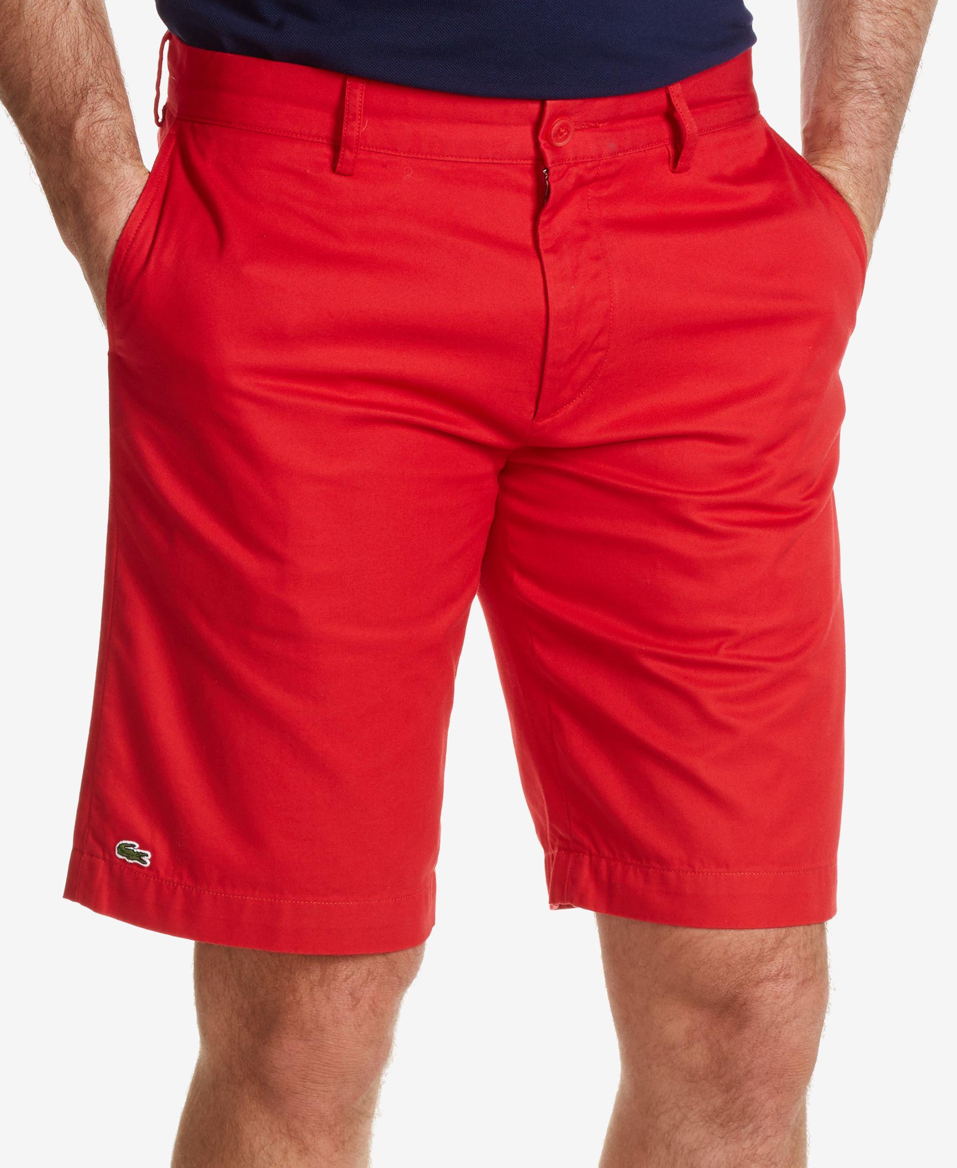 Lacoste Men S Sterlain Bermuda Shorts In Red For Men
