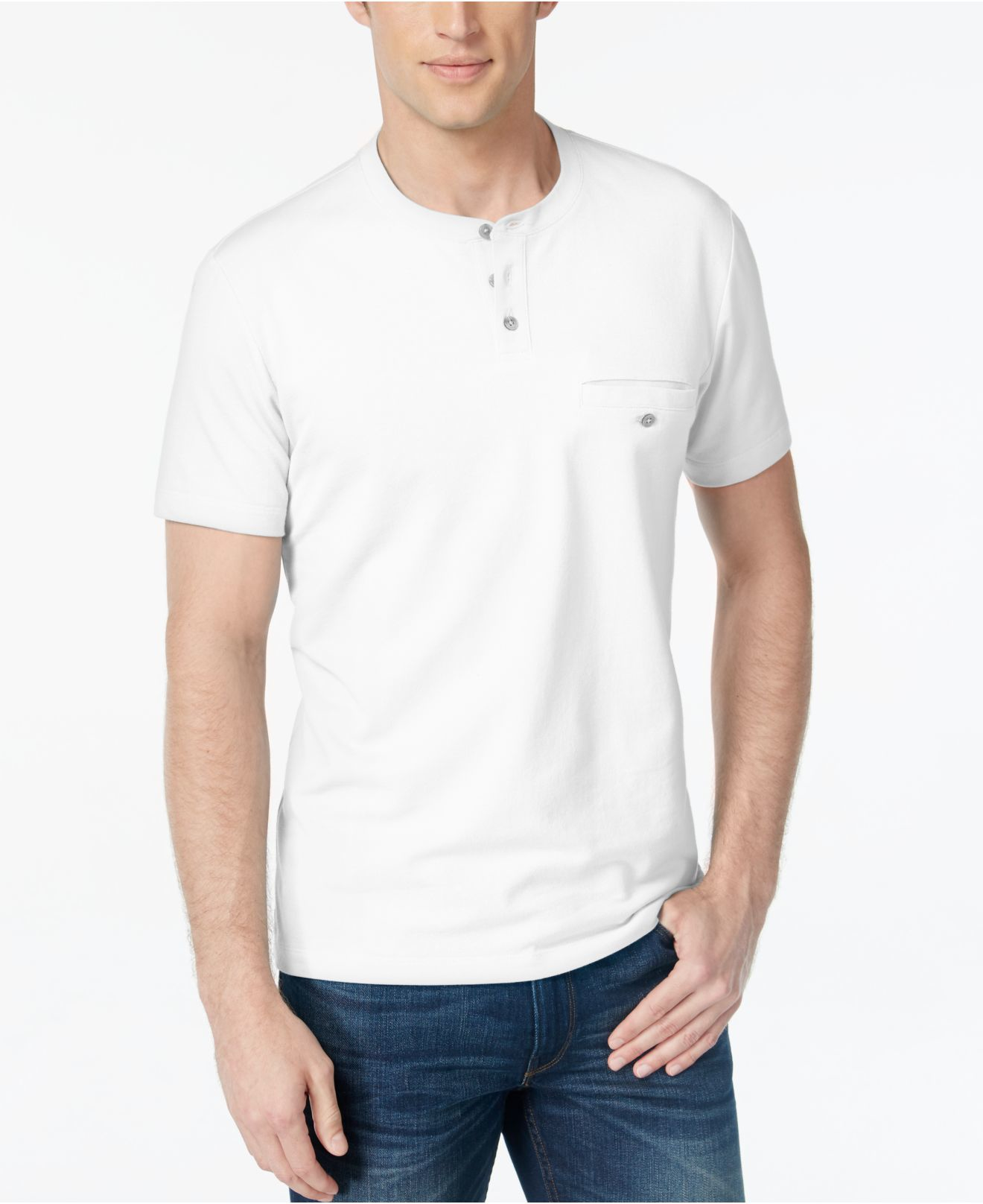 alfani big and tall henley t shirt in white for men lyst