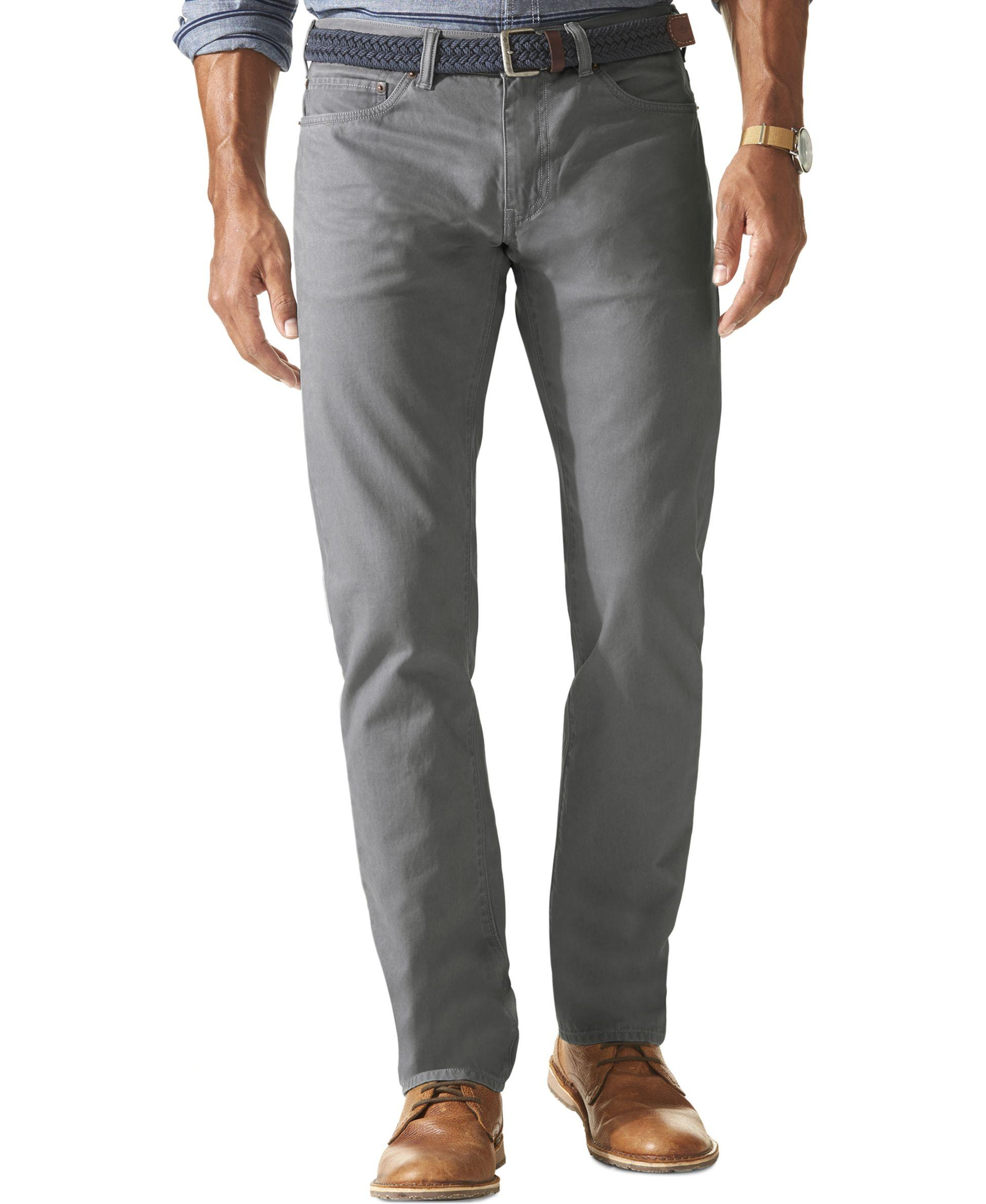 Dockers Jean Cut Slim Fit Sateen Pants D1 In Gray For Men