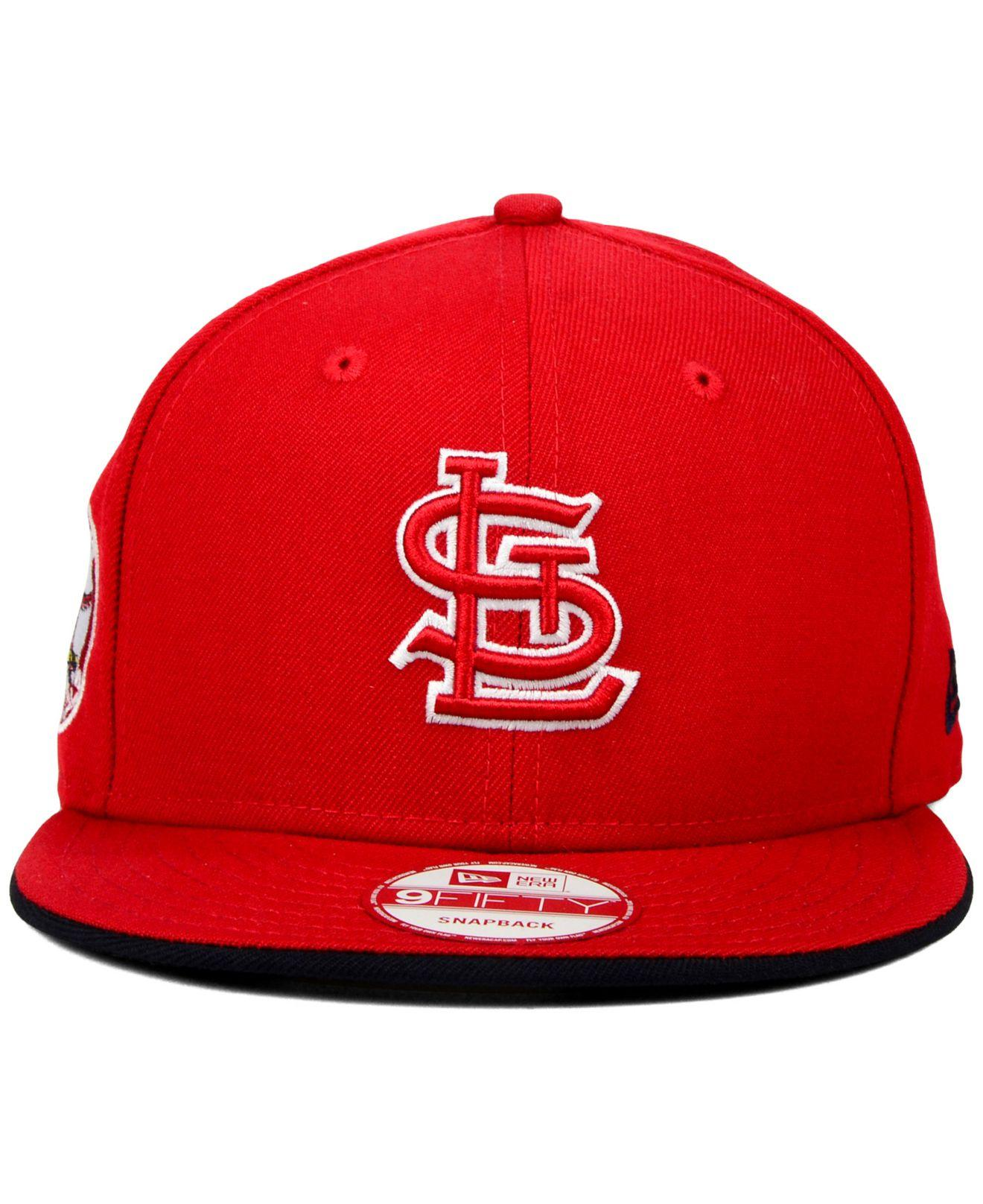 new style 349dd 3477a Lyst - KTZ St. Louis Cardinals Coop Flip 9fifty Snapback Cap in Red ...