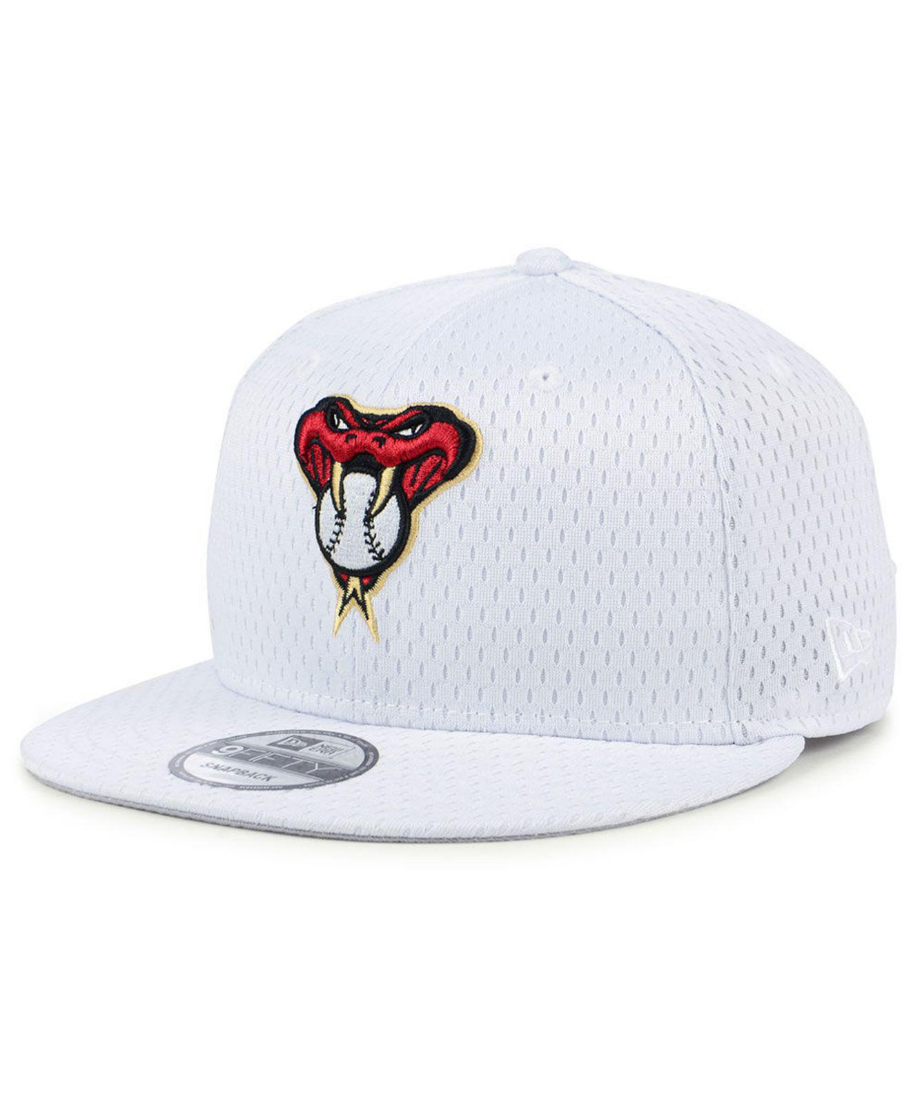 c0e410b739e KTZ. Men s White Arizona Diamondbacks Batting Practice Mesh 9fifty Snapback  Cap