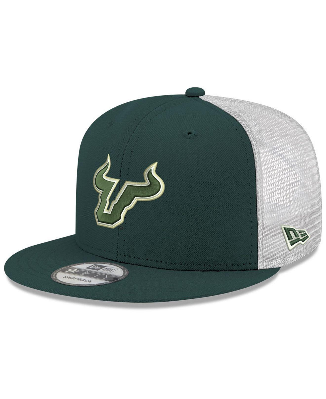 factory authentic b314a 1ef9c KTZ. Men s Green South Florida Bulls Tc Meshback Snapback Cap