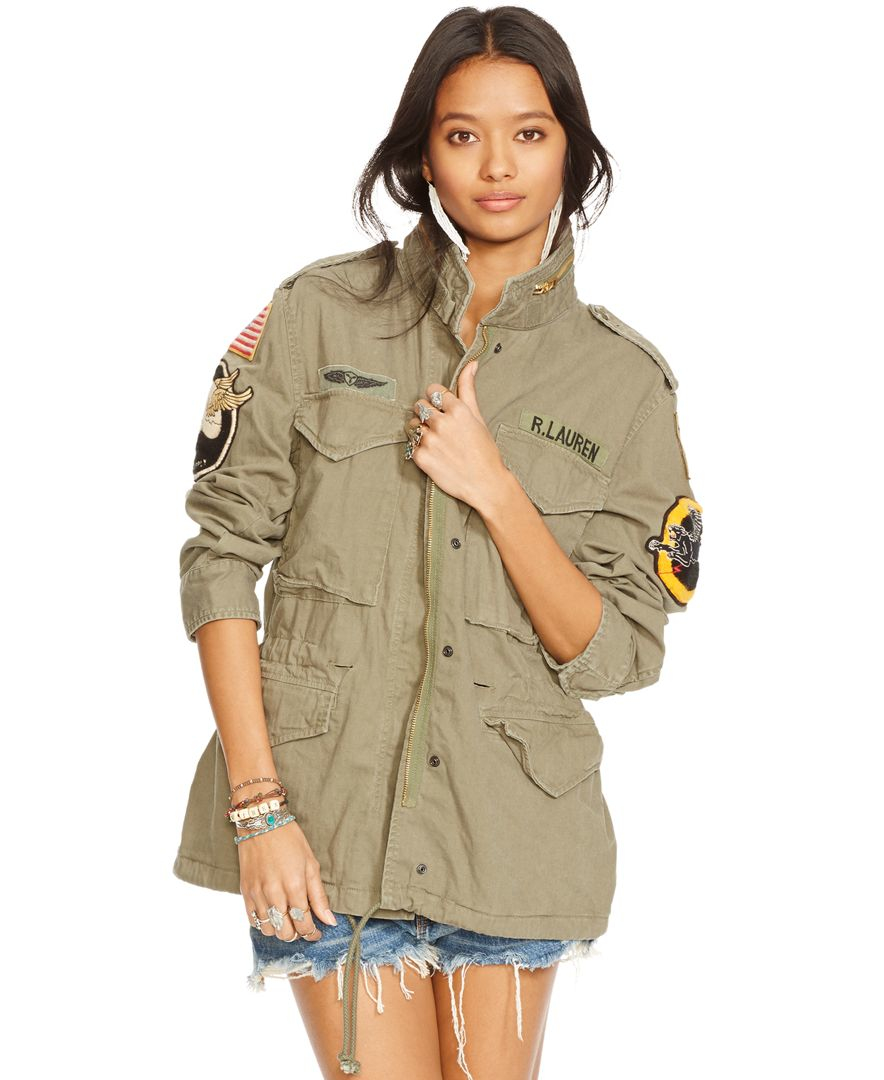 denim supply ralph lauren patch field jacket in green lyst. Black Bedroom Furniture Sets. Home Design Ideas