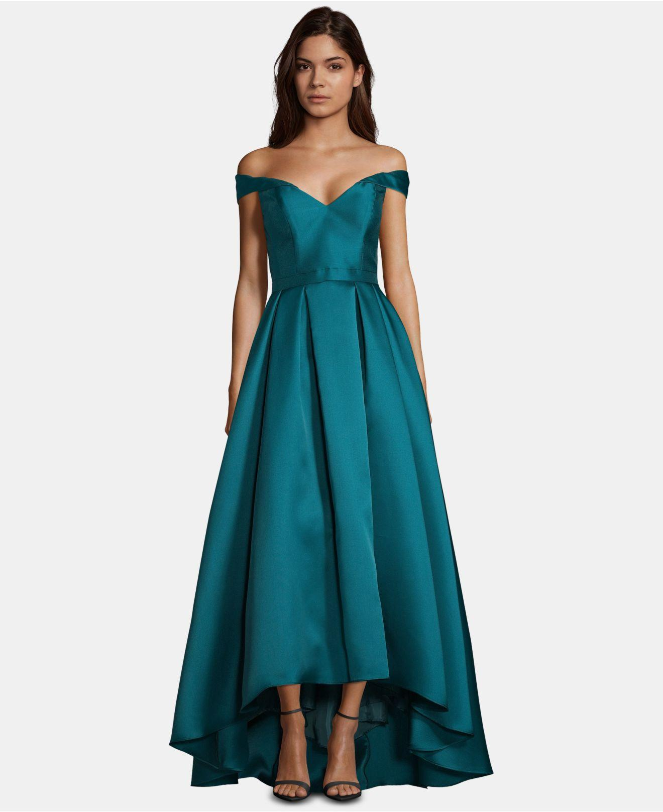 a1075121 Xscape Off-the-shoulder Sweetheart Gown in Blue - Lyst