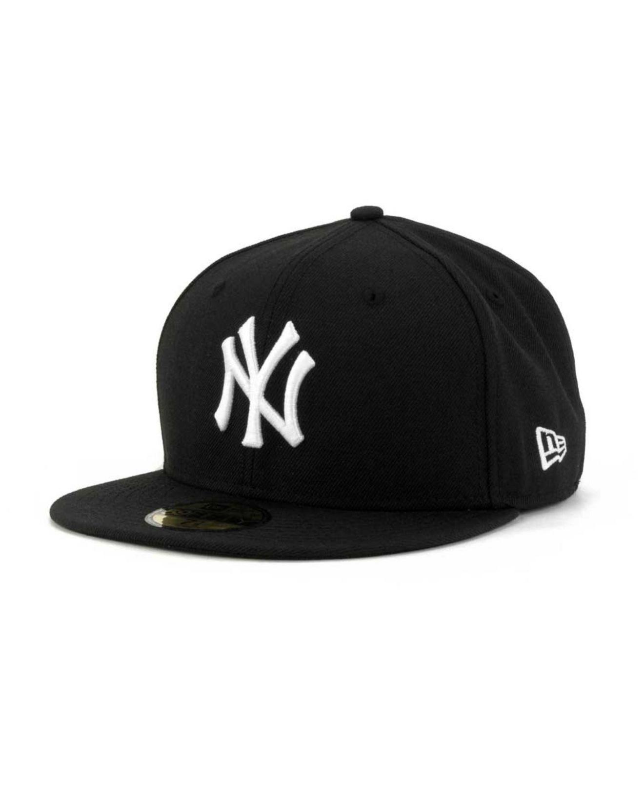 watch bd4d2 5c9cb ... australia ktz black new york yankees b dub 59fifty cap for men lyst.  view fullscreen