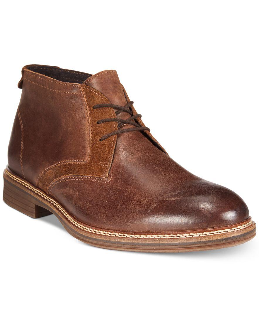 alfani s mixed media chukka boots only at macy