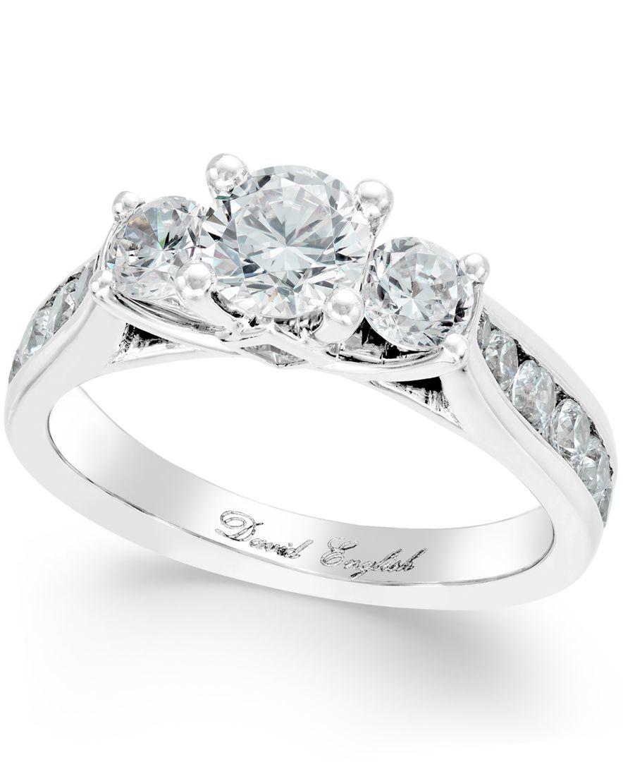Three Stone Engagement Ring Macy S