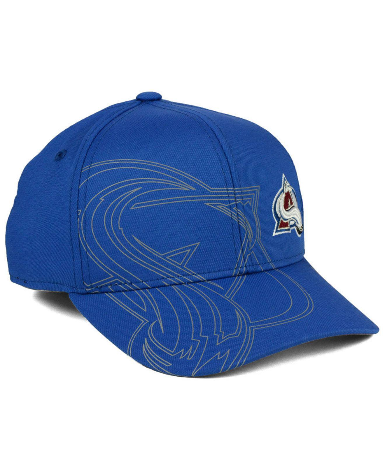 426d357c48f28 ... discount lyst adidas colorado avalanche 2nd season flex cap in blue for  men 3cf53 b561a