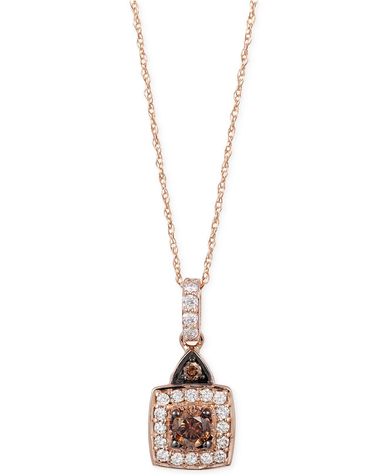 le vian chocolate and white diamond pendant necklace 1 2. Black Bedroom Furniture Sets. Home Design Ideas