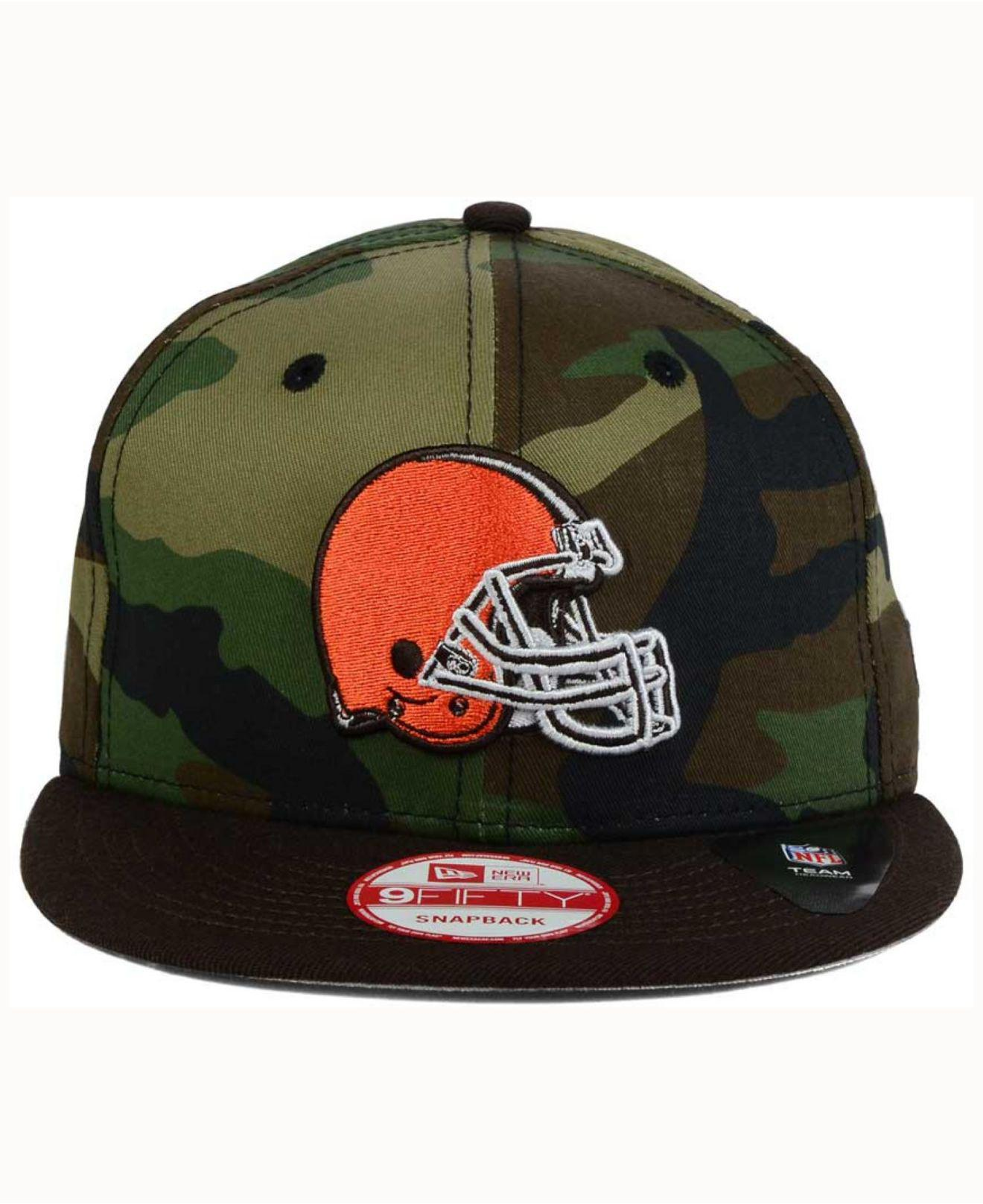 quality design 5bec1 6d39f ... czech lyst ktz cleveland browns camo two tone 9fifty snapback cap in  2332a d437b
