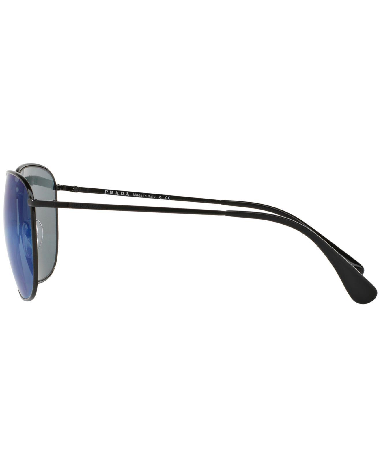 c812336f23456 ... denmark lyst prada sunglasses pr 52ts in blue for men a2c6c ad0ab